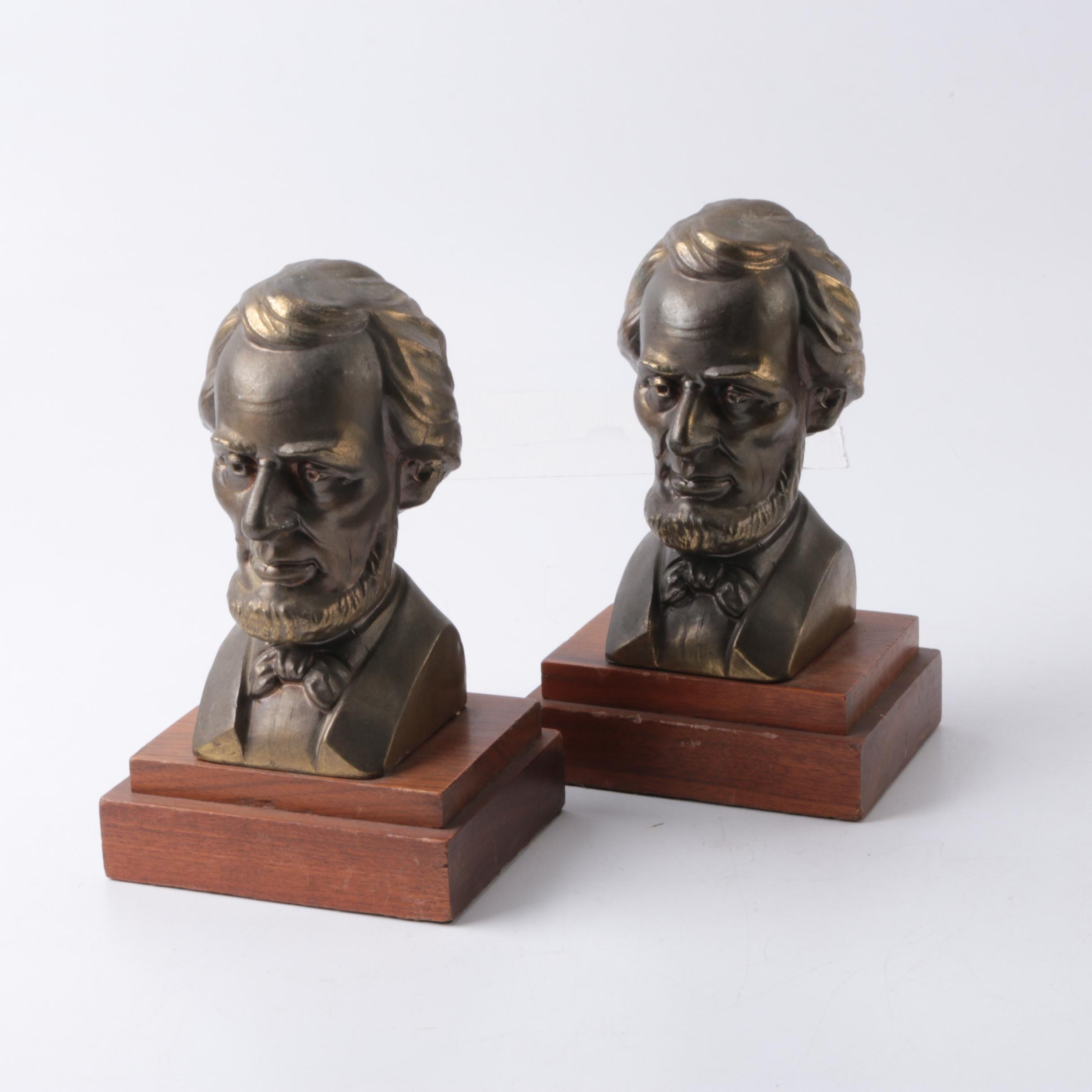 Abraham Lincoln Bust Bookends