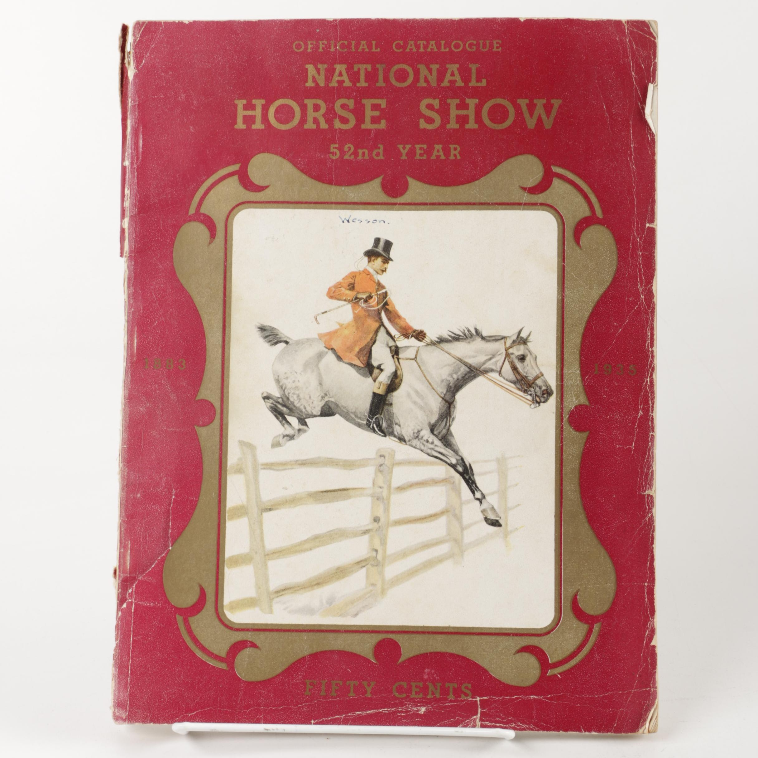 1935 Catalog from the 52nd National Horse Show