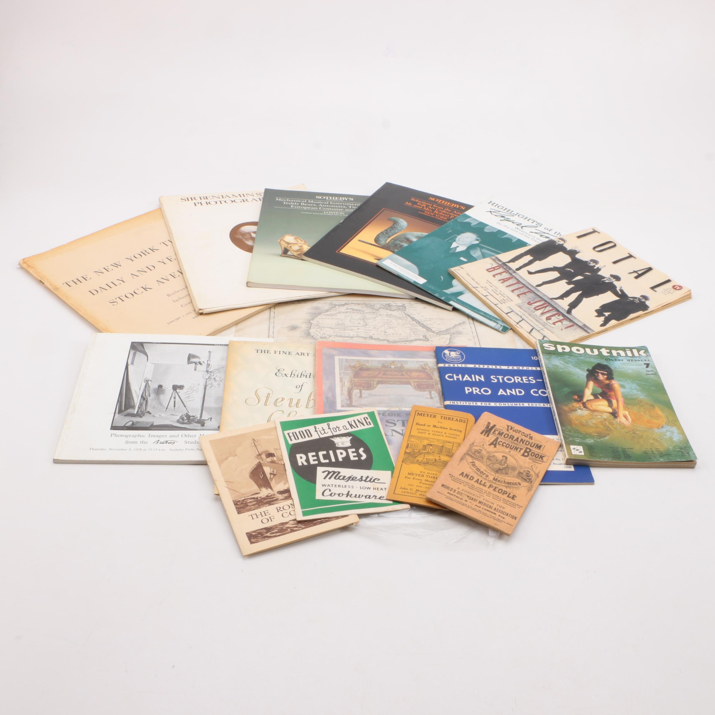 Assortment of Booklets, Magazines and Catalogs