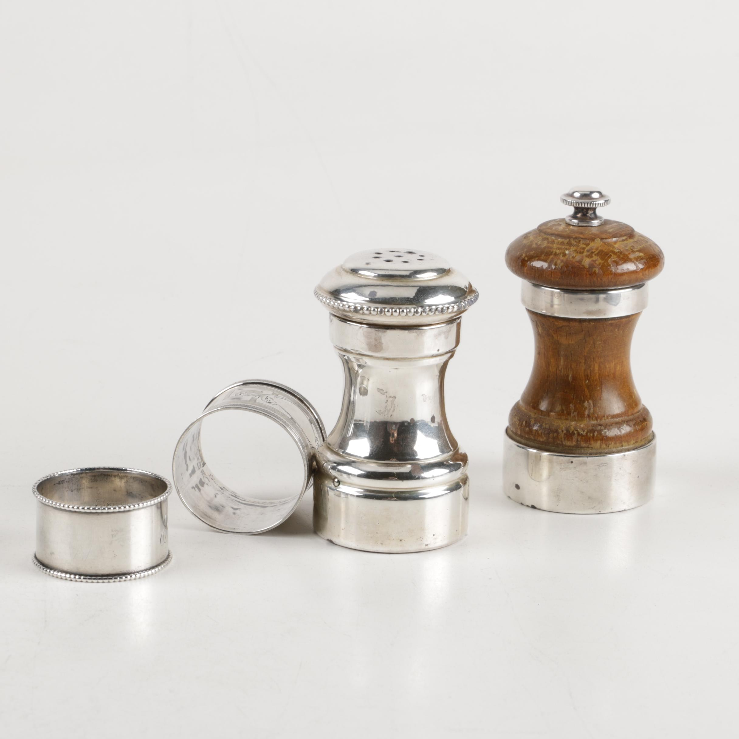 Collection of Sterling Silver and Silver Tone Tableware