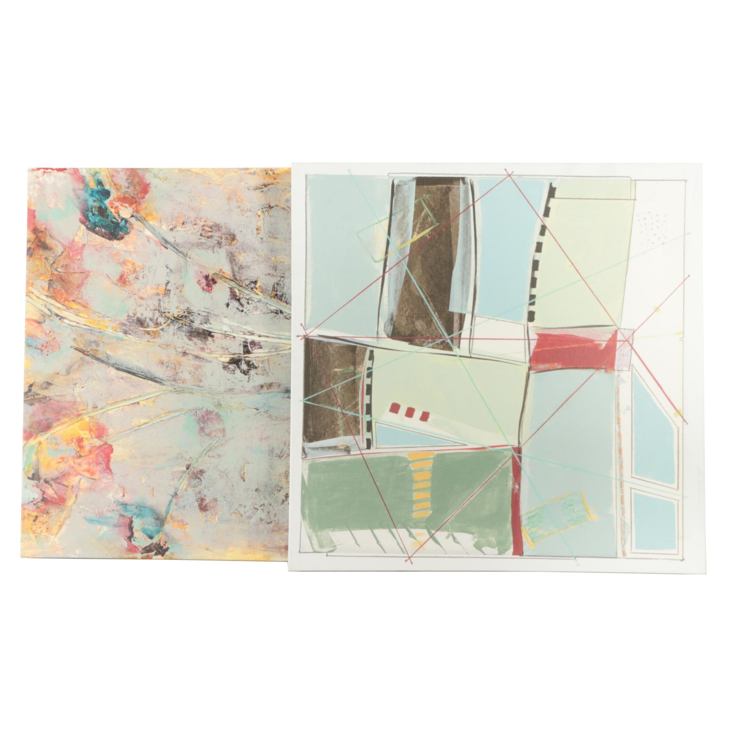 "Giclee Prints on Canvas Featuring ""Wishful Thinking I"" After Jane Bellows"