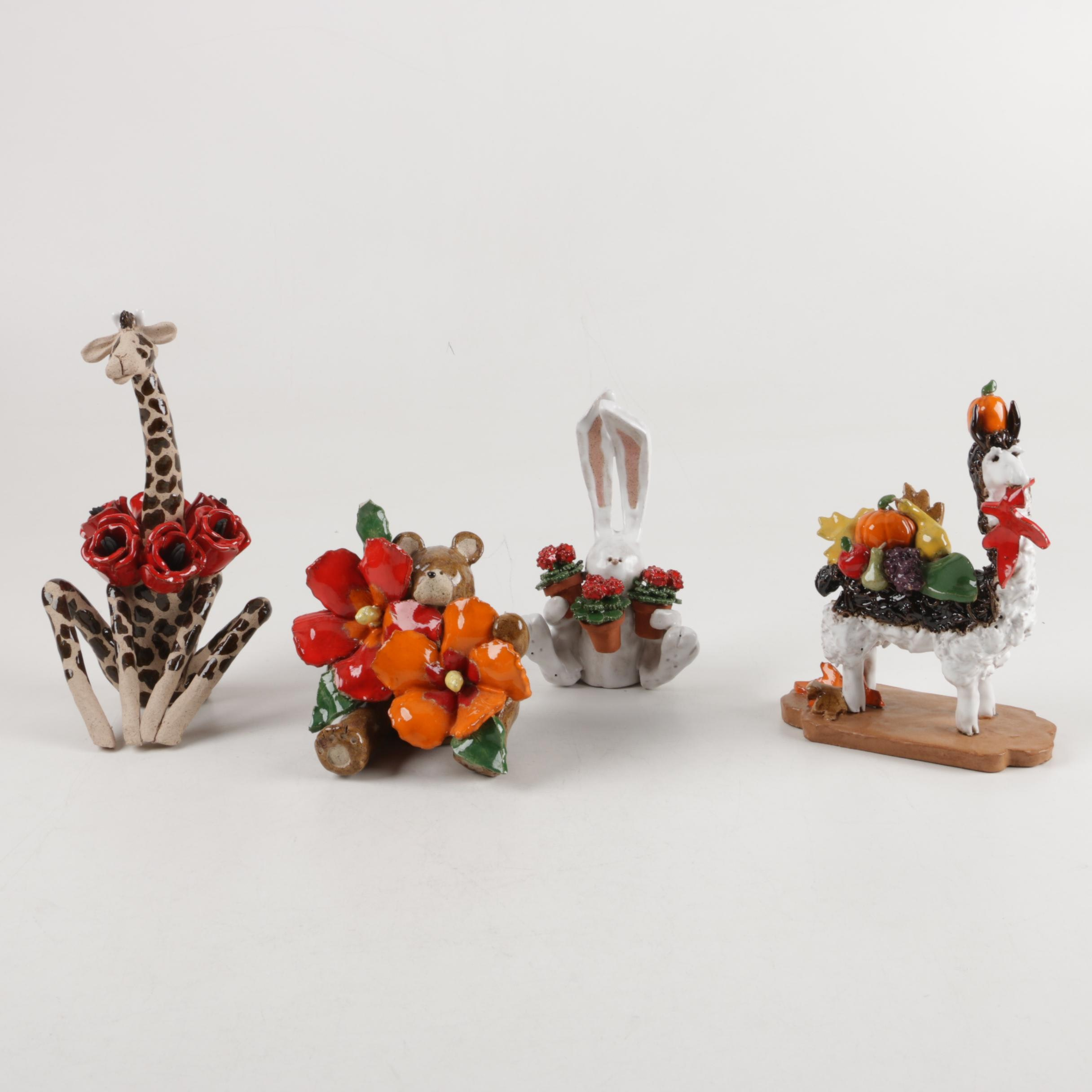 Assortment of Ceramic Animal Figurines