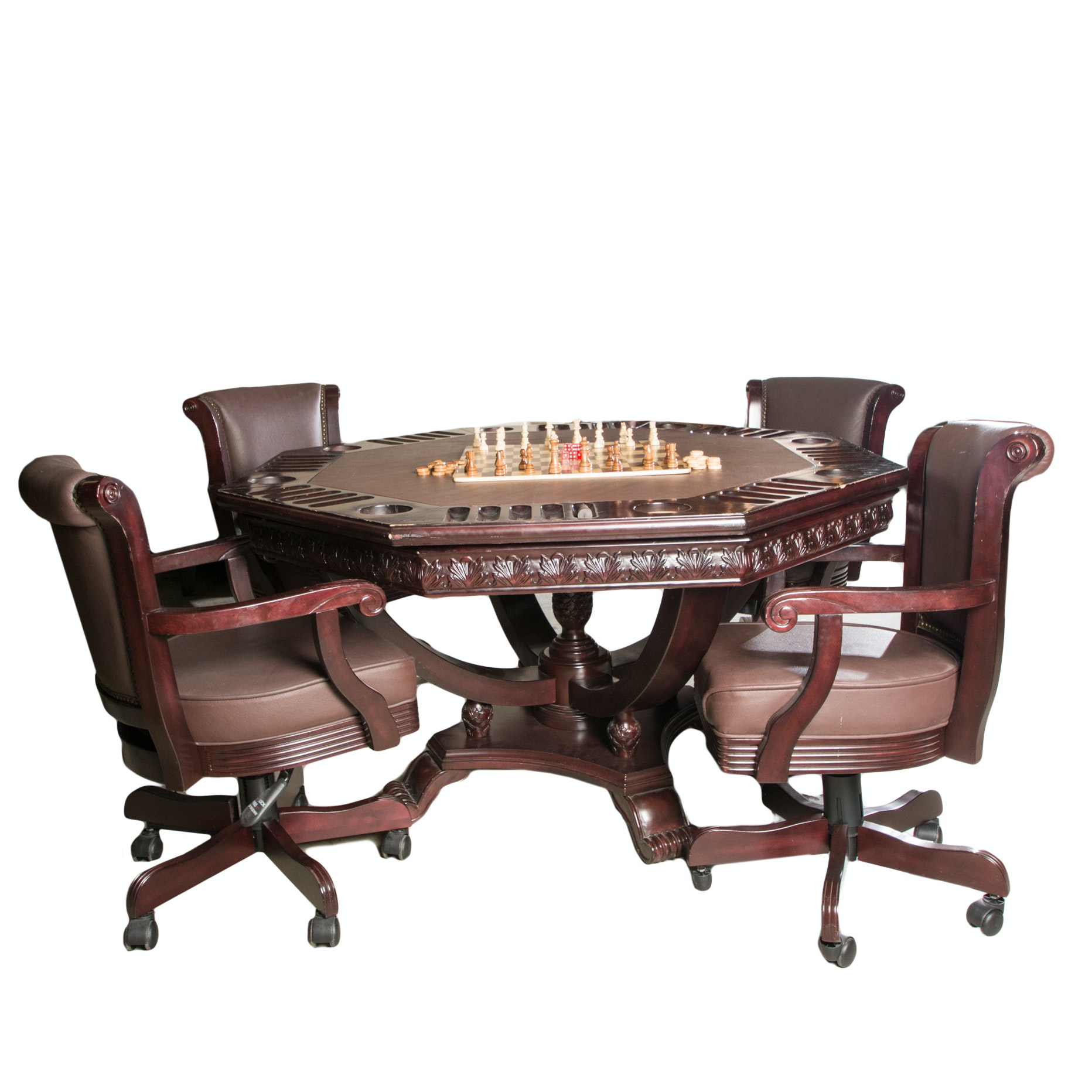 Marvelous Imperial International Game Table With Chairs ...