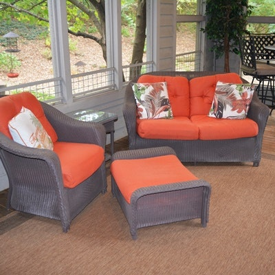 Lloyd Flanders AllWeather Wicker Patio Furniture Set  Lloyd Flanders Furniture44