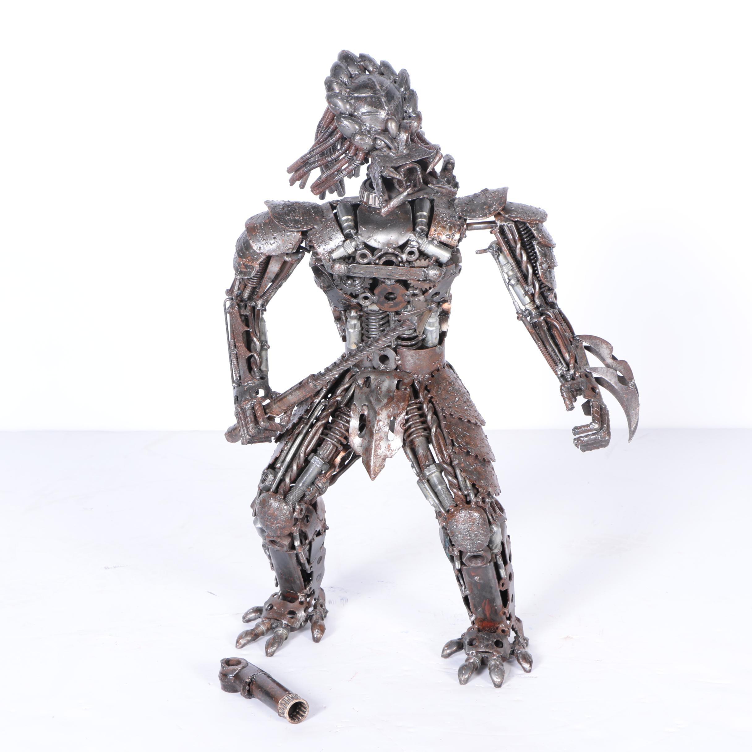 """Welded Metal Sculpture of """"Predator"""""""