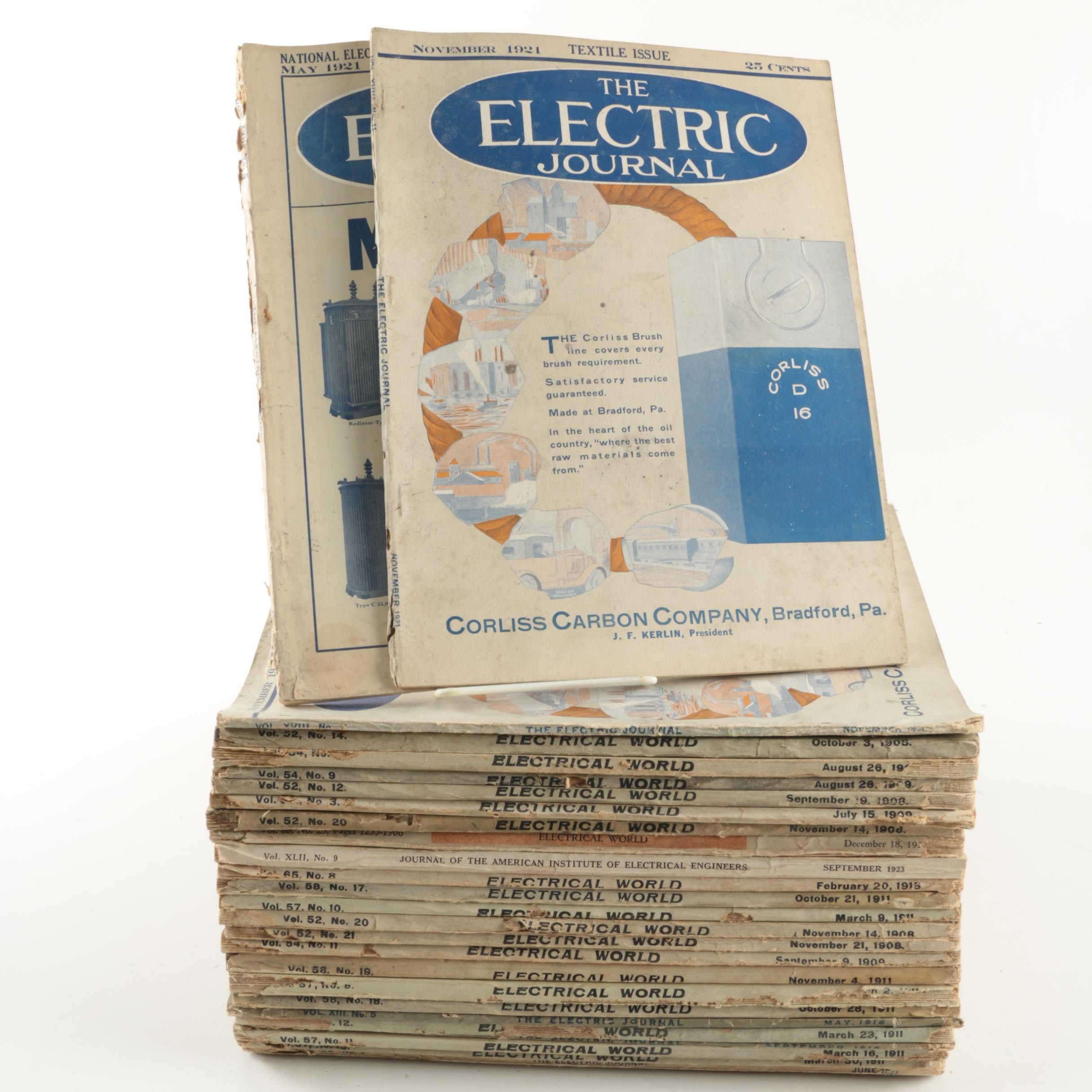 Early 20th-Century Electrician Magazines