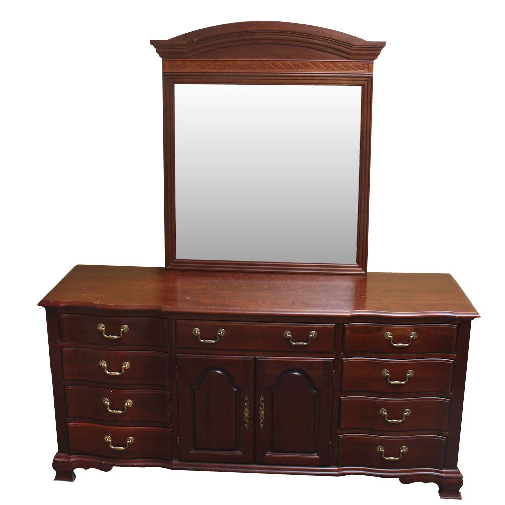 Chippendale Style Dresser With Mirror By Pennsylvania House ...