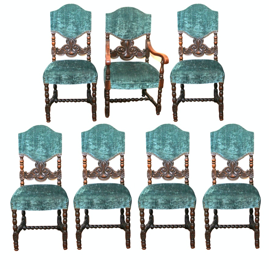 Antique Revival Style Oak Dining Room Chairs ... - Antique Revival Style Oak Dining Room Chairs : EBTH