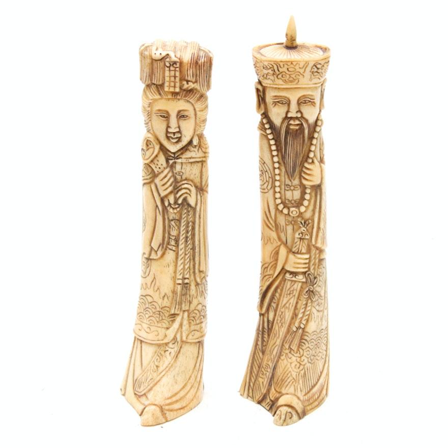 Chinese Carved Bone Figurines Ebth