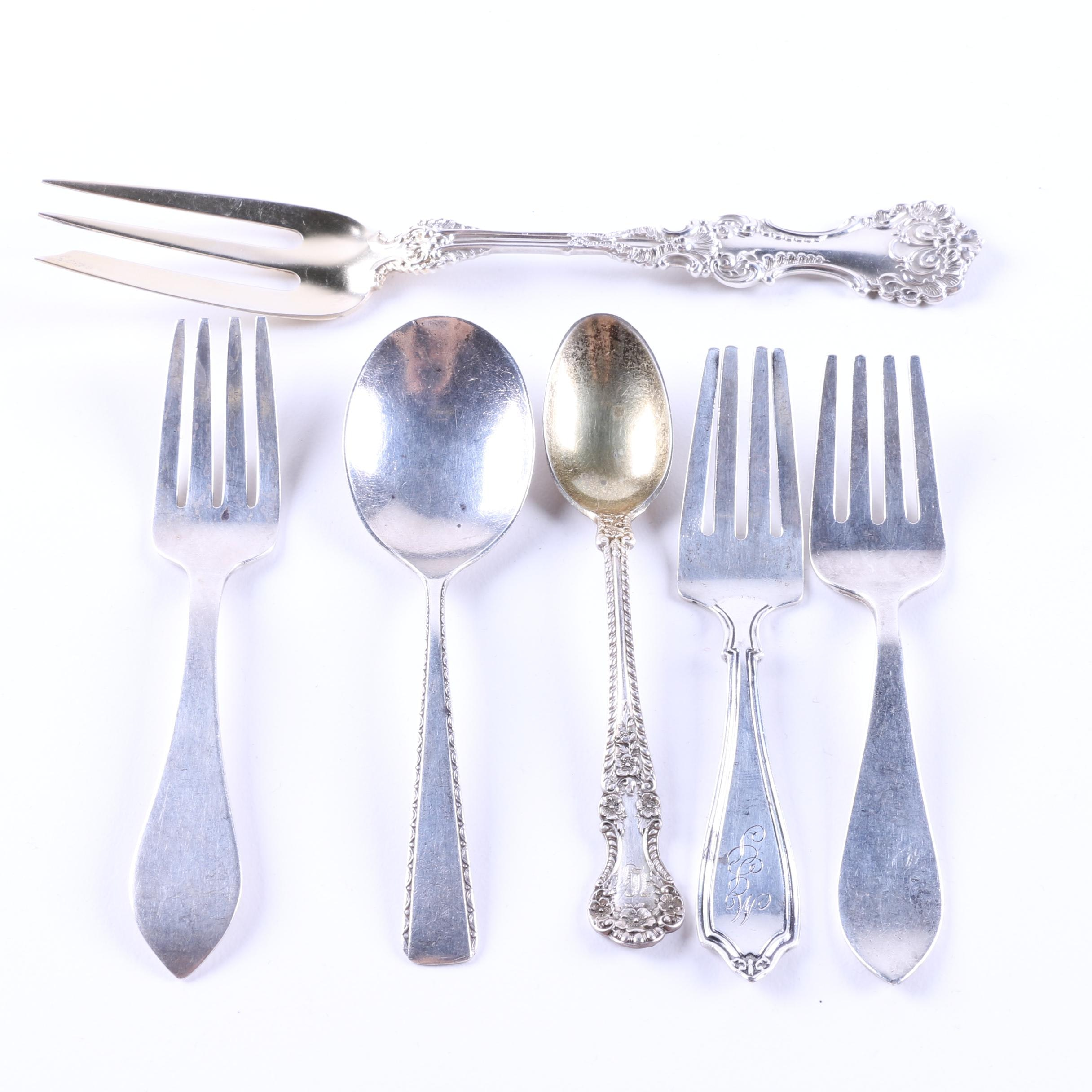 Assorted Sterling Silver Flatware Featuring Webster Co.