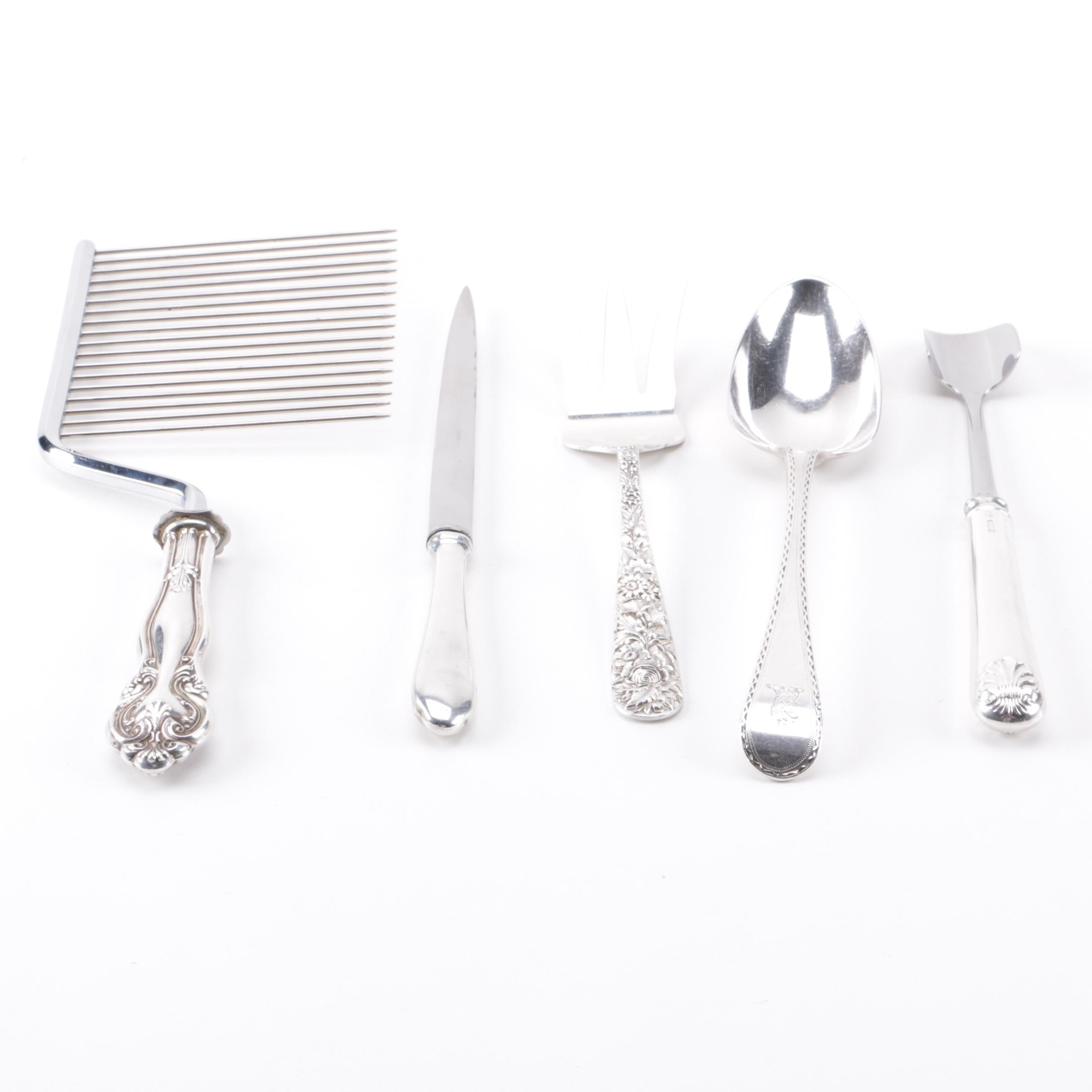 William Sumner & Richard Crossley and Other Sterling Silver Utensils