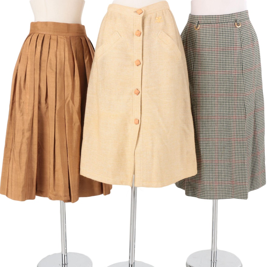1980s Skirts Including Saint Laurent and Courreges   EBTH 6a5a82f4f