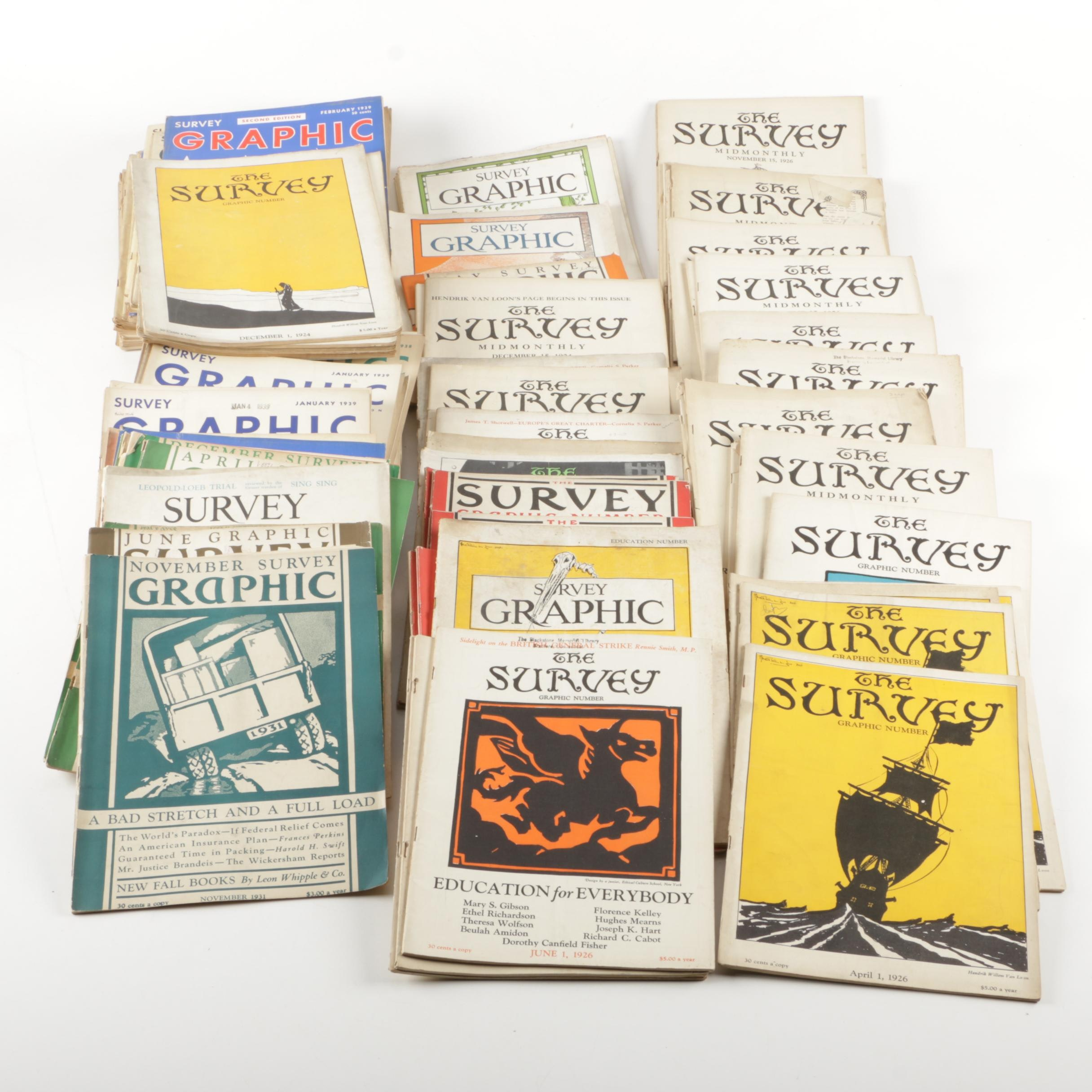 "Collection of ""The Survey Graphic"" Magazines"