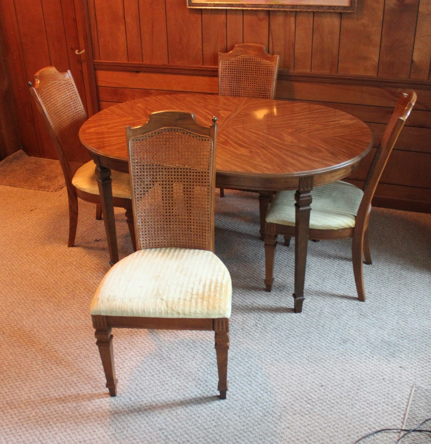broyhill dining room sets vintage broyhill federal style dining table and chairs ebth 3574