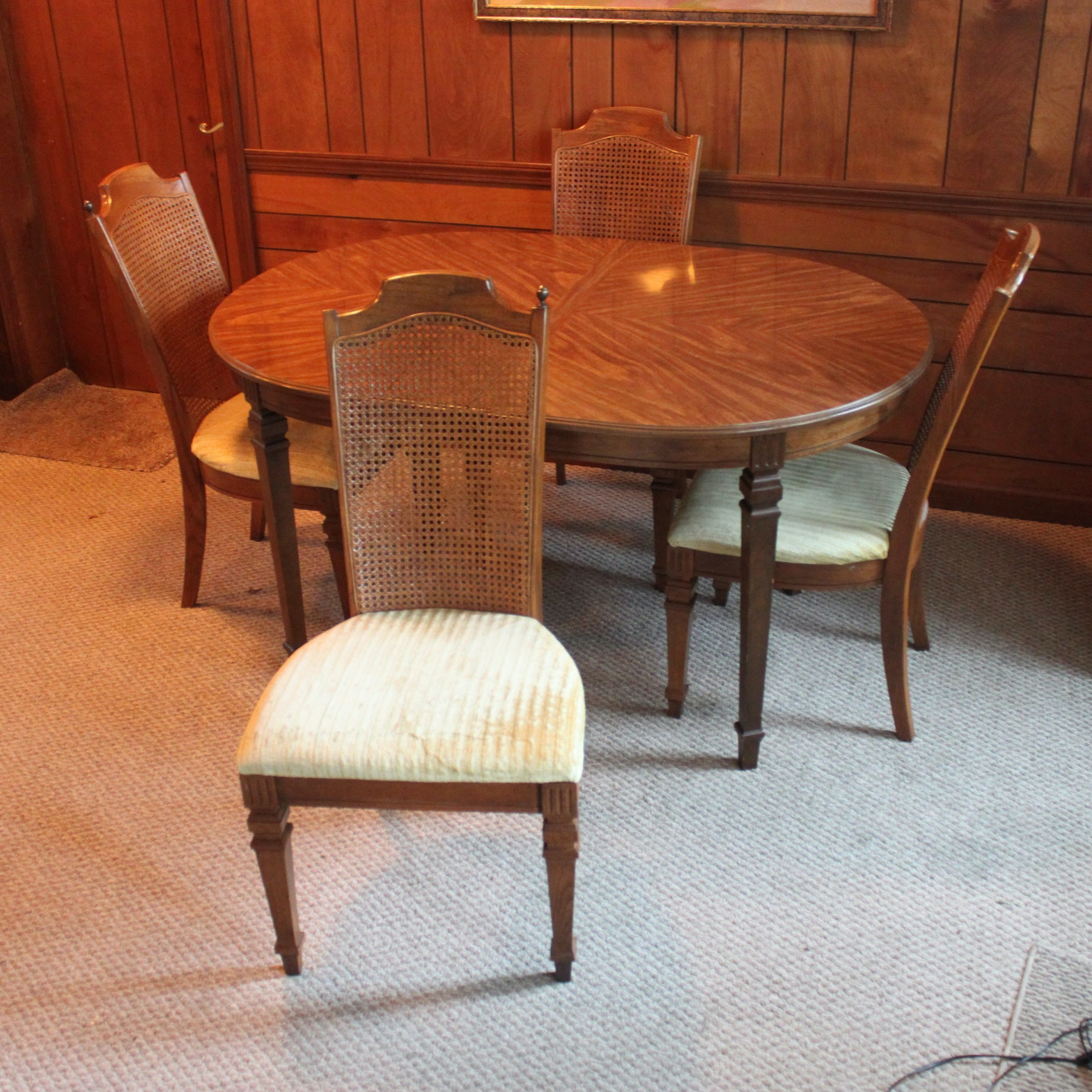 Vintage Broyhill Federal Style Dining Table And Chairs ...