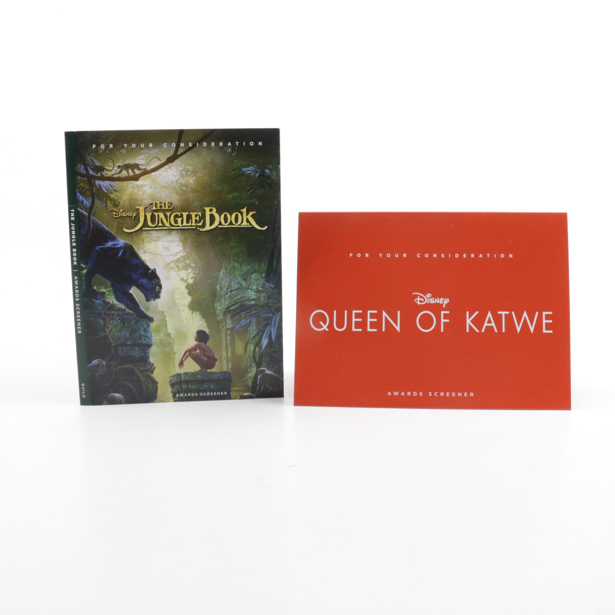 """Award Screener Copies of """"The Jungle Book"""" and """"Queen of Katwe"""" DVDs"""
