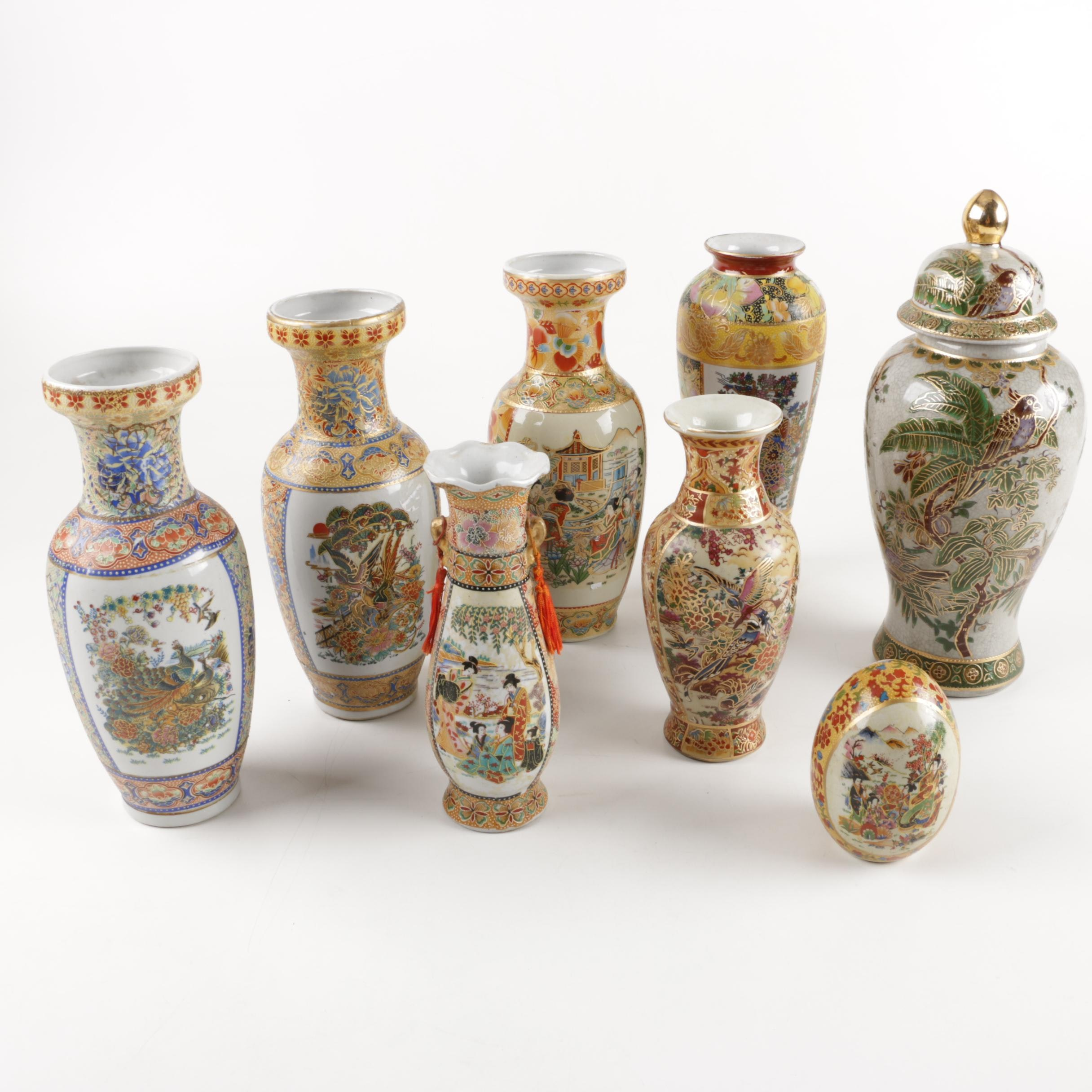 Collection of Chinese Produced Satsuma Style Ceramic Decor