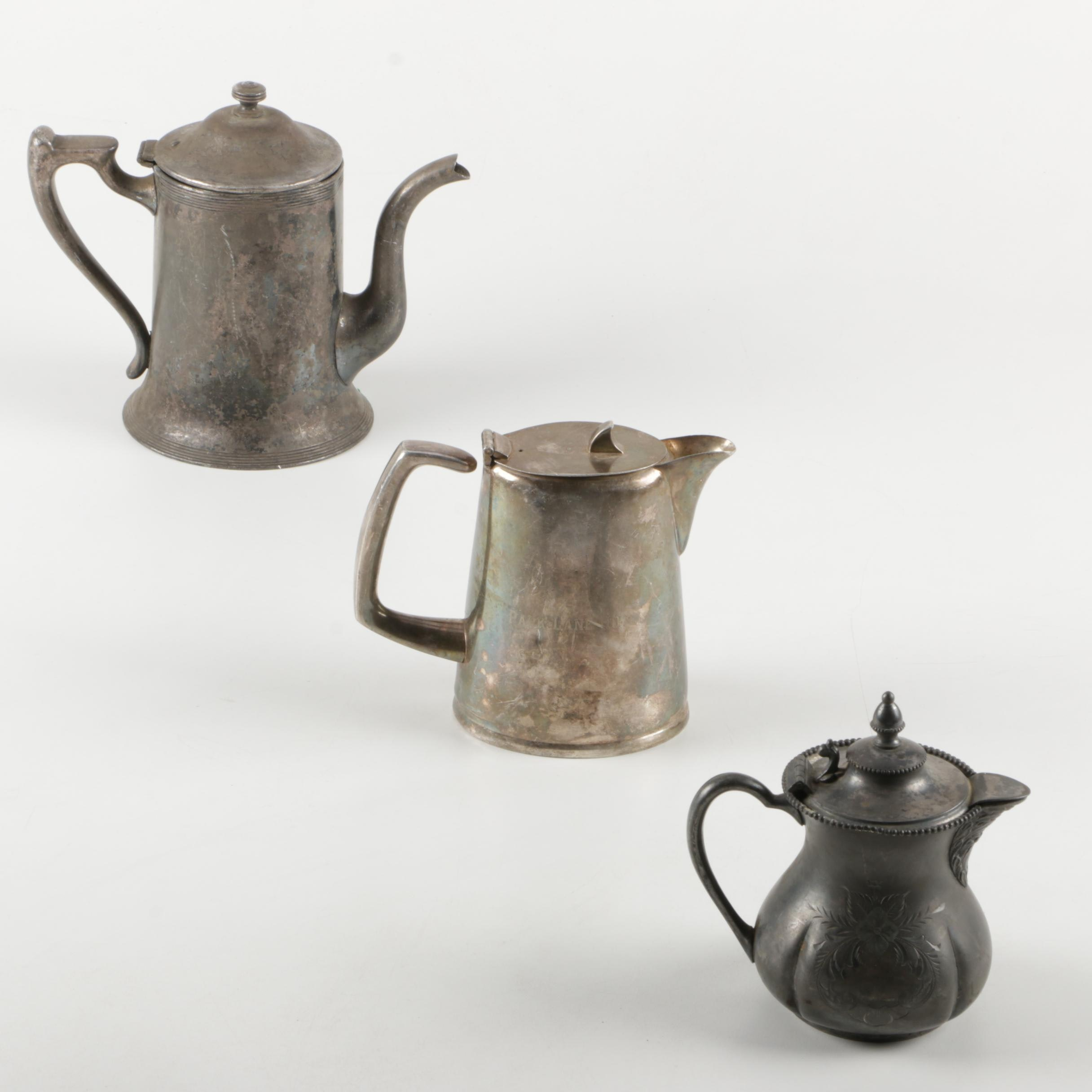 Collection of Silver Plate Coffee Pots
