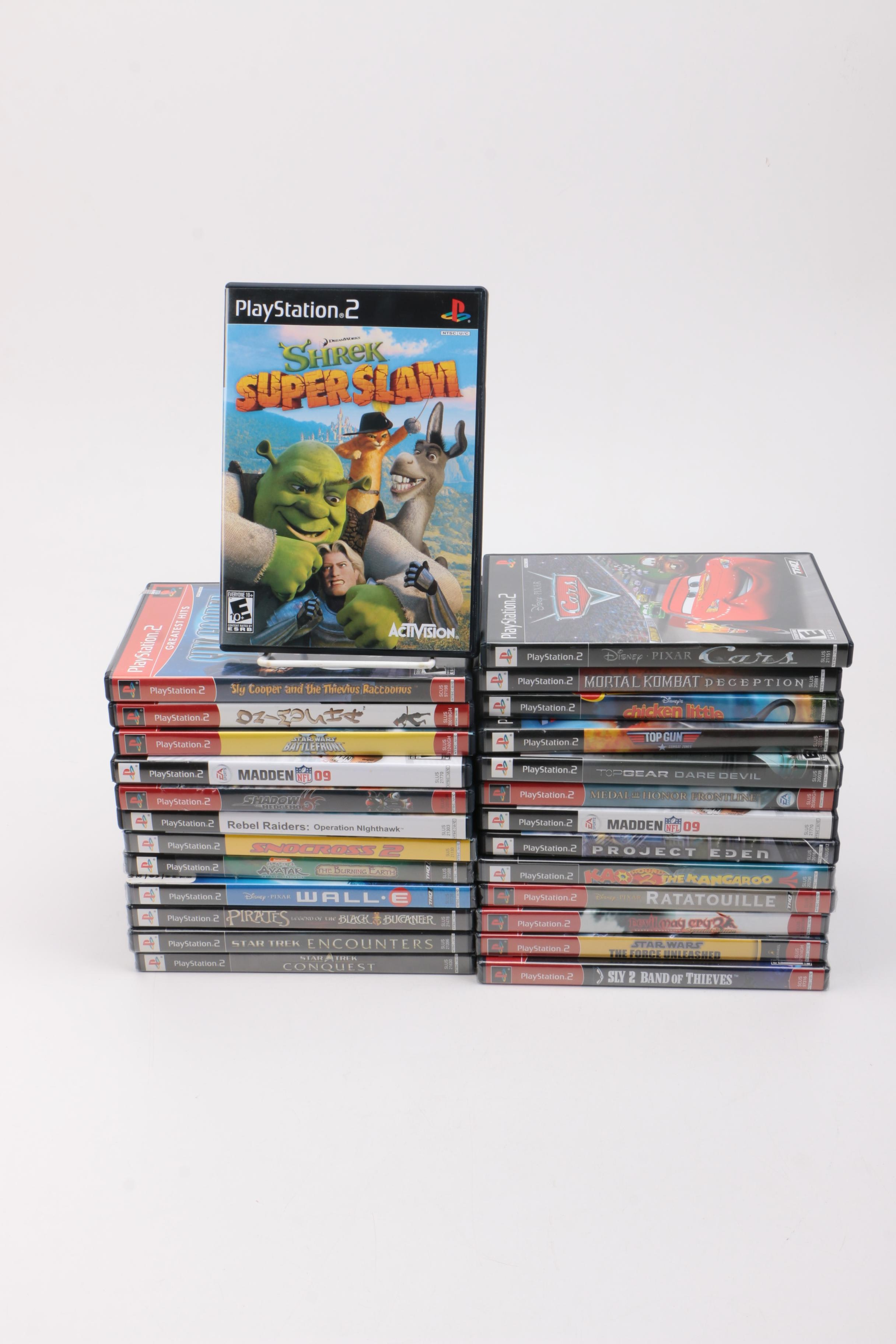 Collection of Twenty-Six PS2 Video Games
