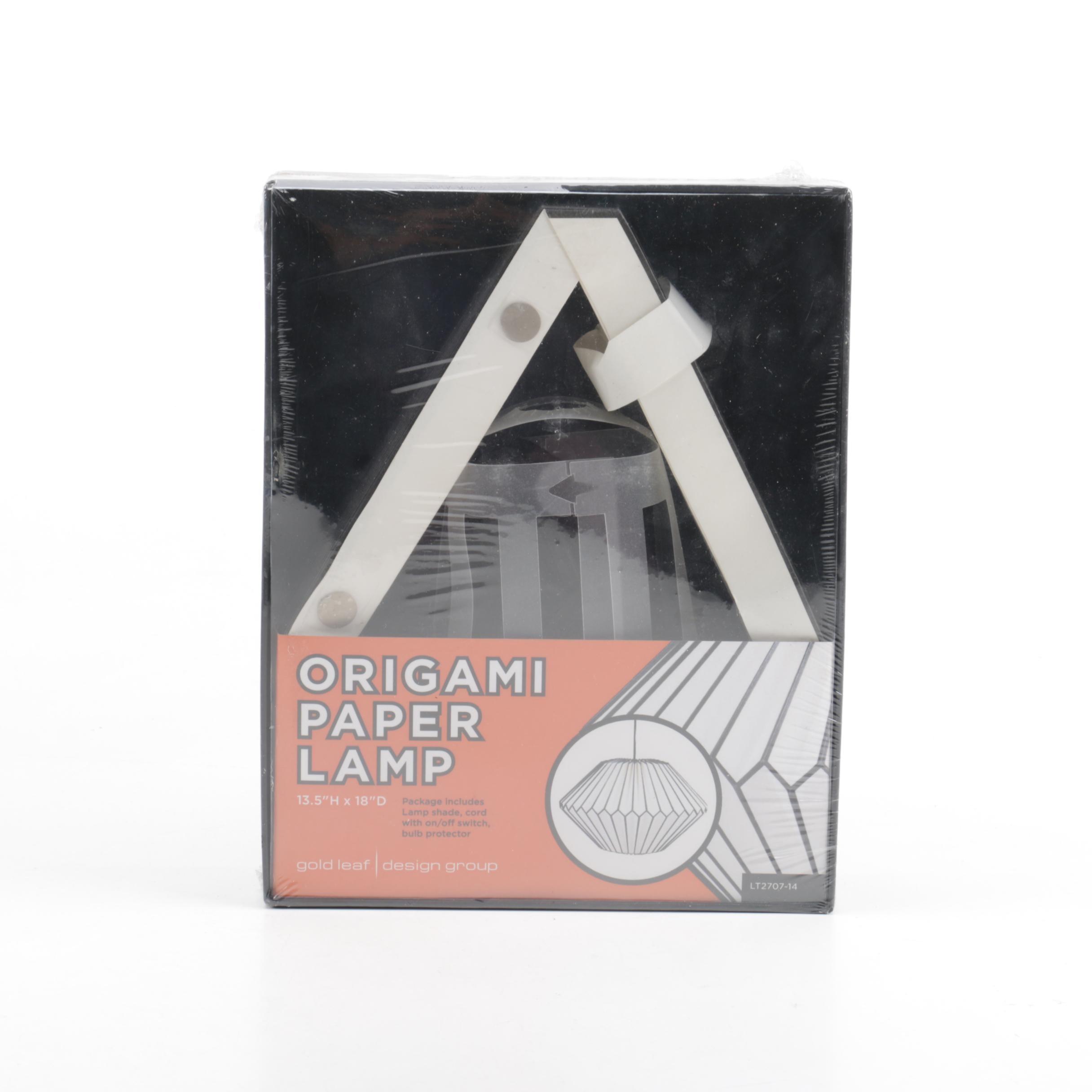 Gold Leaf Design Group Origami Paper Lamp