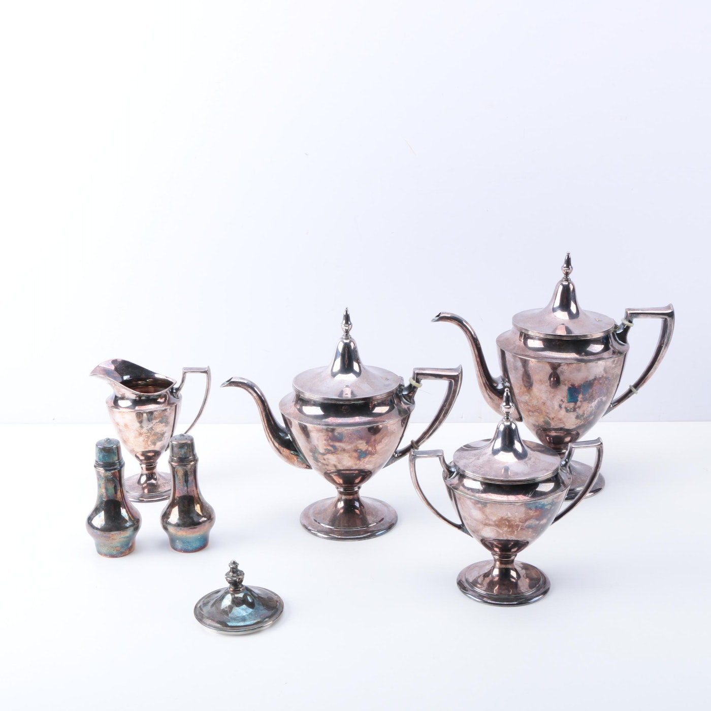 Wm A Rogers Silver Plate Marks: Vintage Pairpoint Silver Plate Tea And Coffee Set And Wm