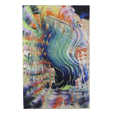 "Roy Lerner Acrylic Painting on Canvas ""Full-Size-Soul"""