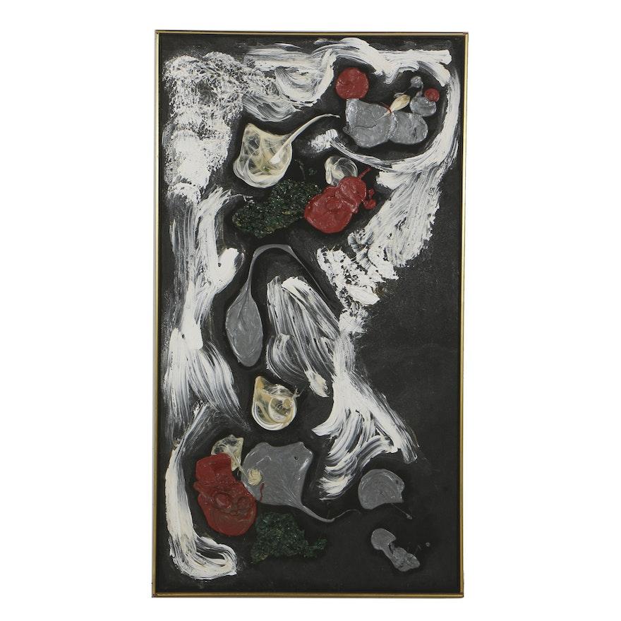 "Lucy Baker Acrylic Painting on Canvas ""Phantom"""