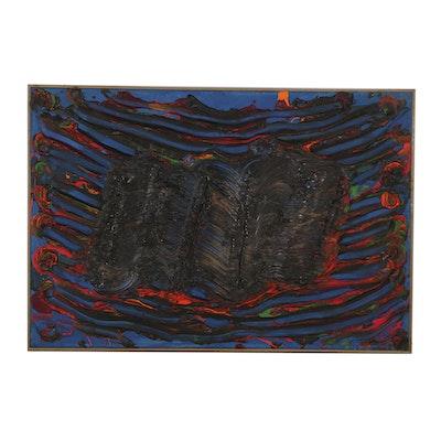 "Bruce Piermarini Acrylic Painting on Canvas ""World on Fire"""