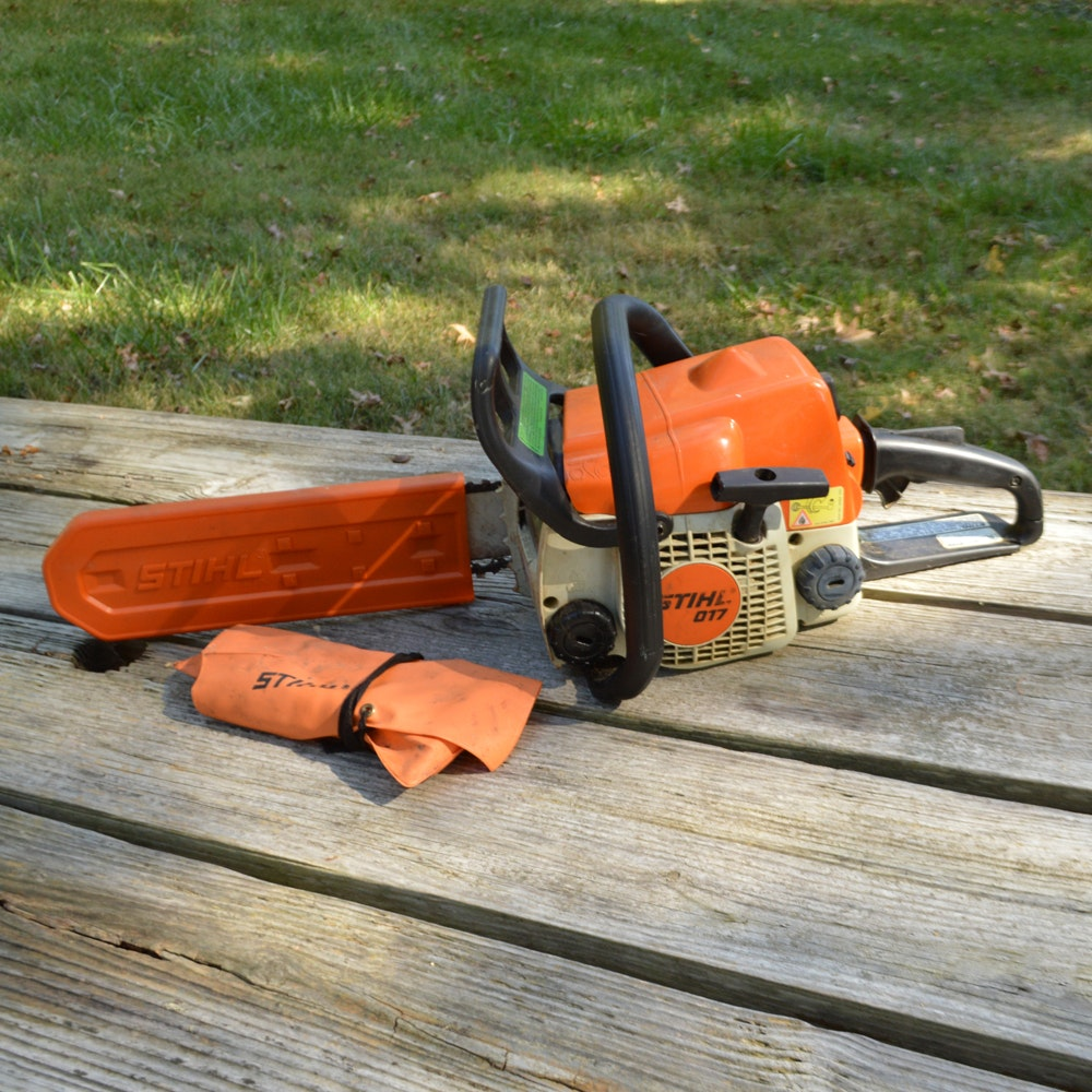 Stihl Chainsaw with Blade Cover
