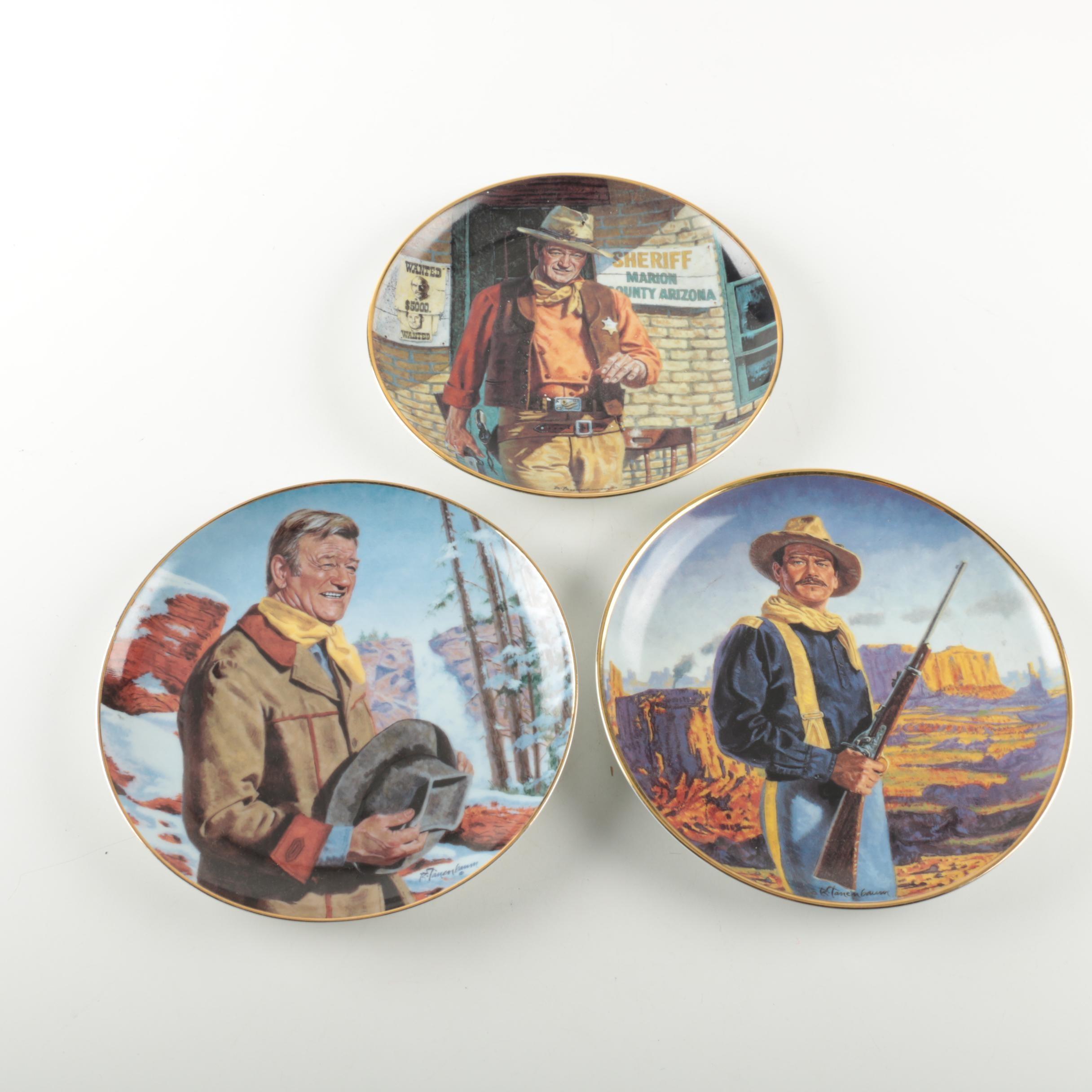 John Wayne Limited Edition Collectible Plates