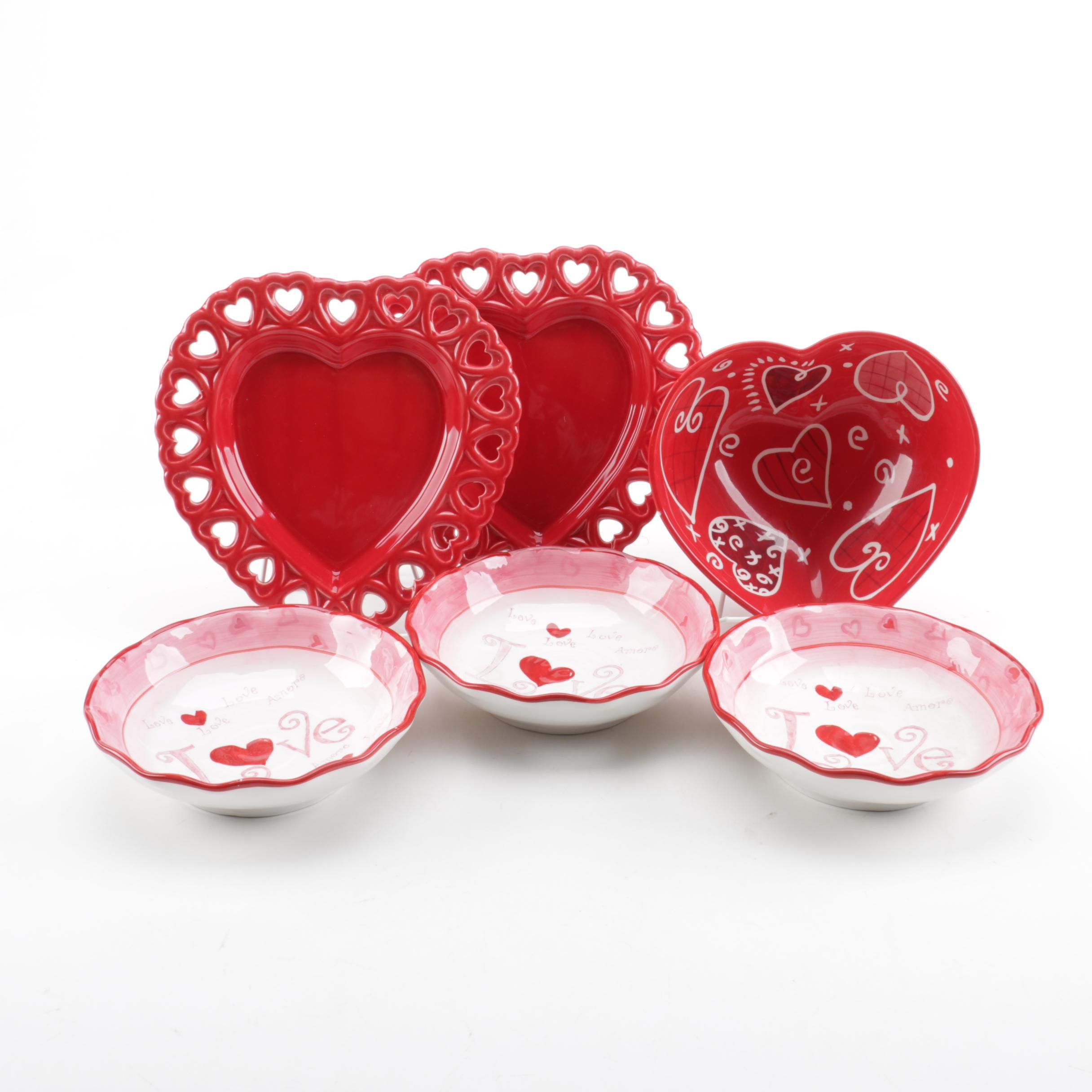 Valentine's Day Ceramic Tableware