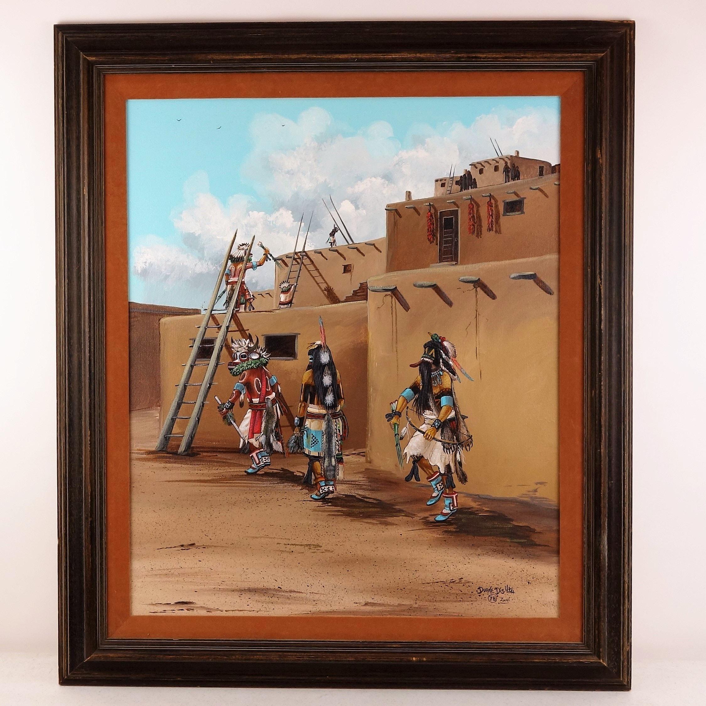 Duane Dishta Original 1978 Oil on Canvas