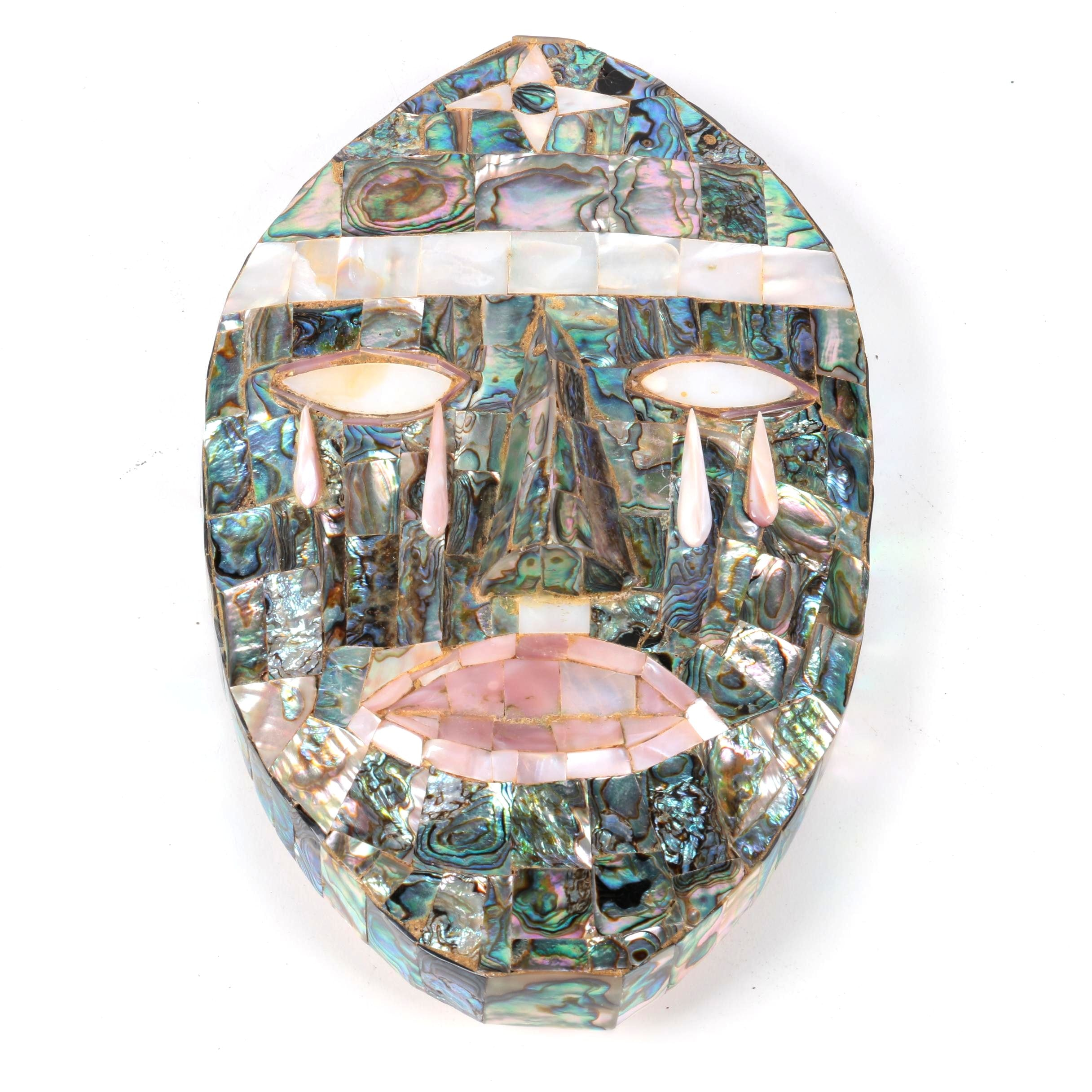 Mexican Mid Century Abalone Mask