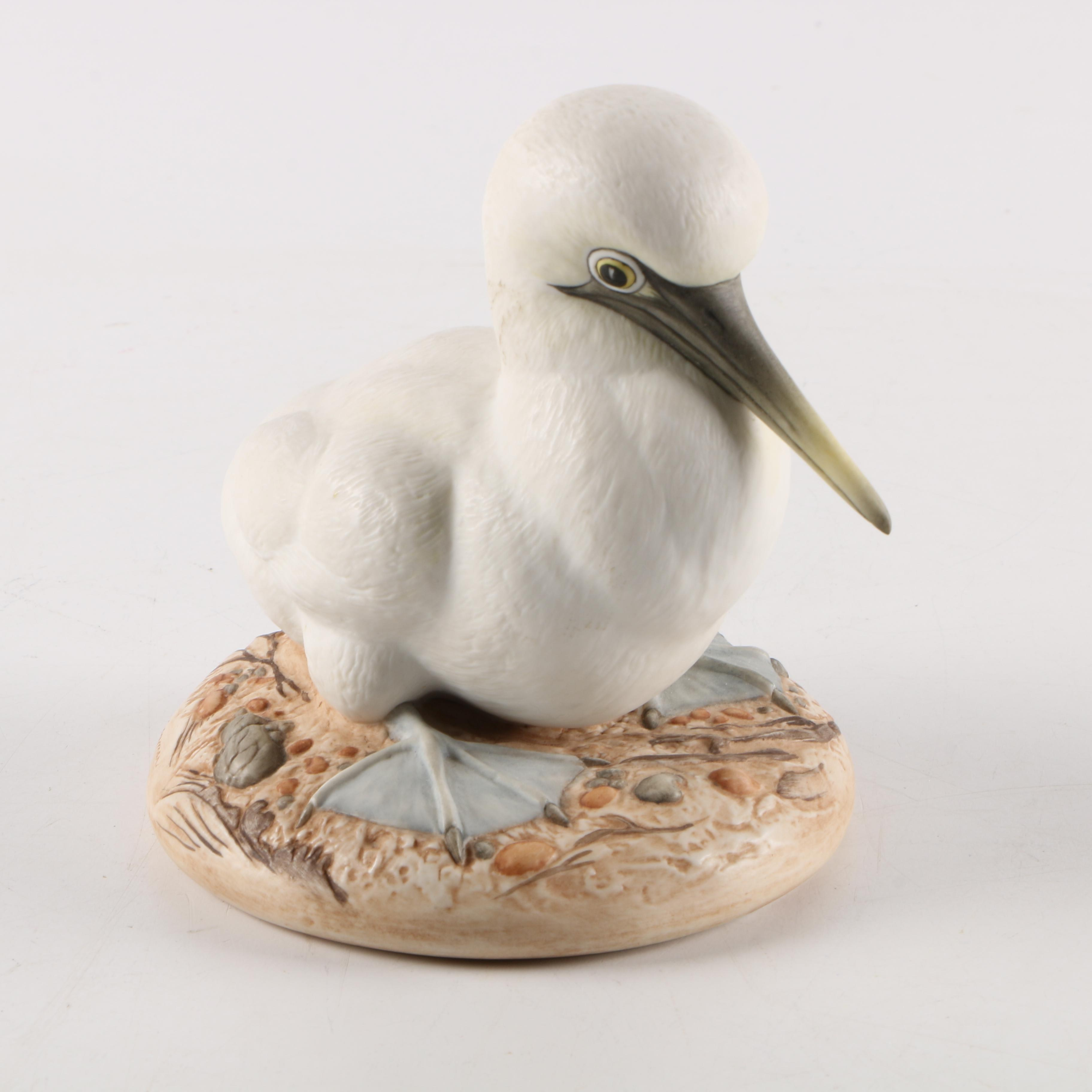 """Hand-Painted Kazmar Porcelain """"Blue Footed Booby"""" Figurine"""