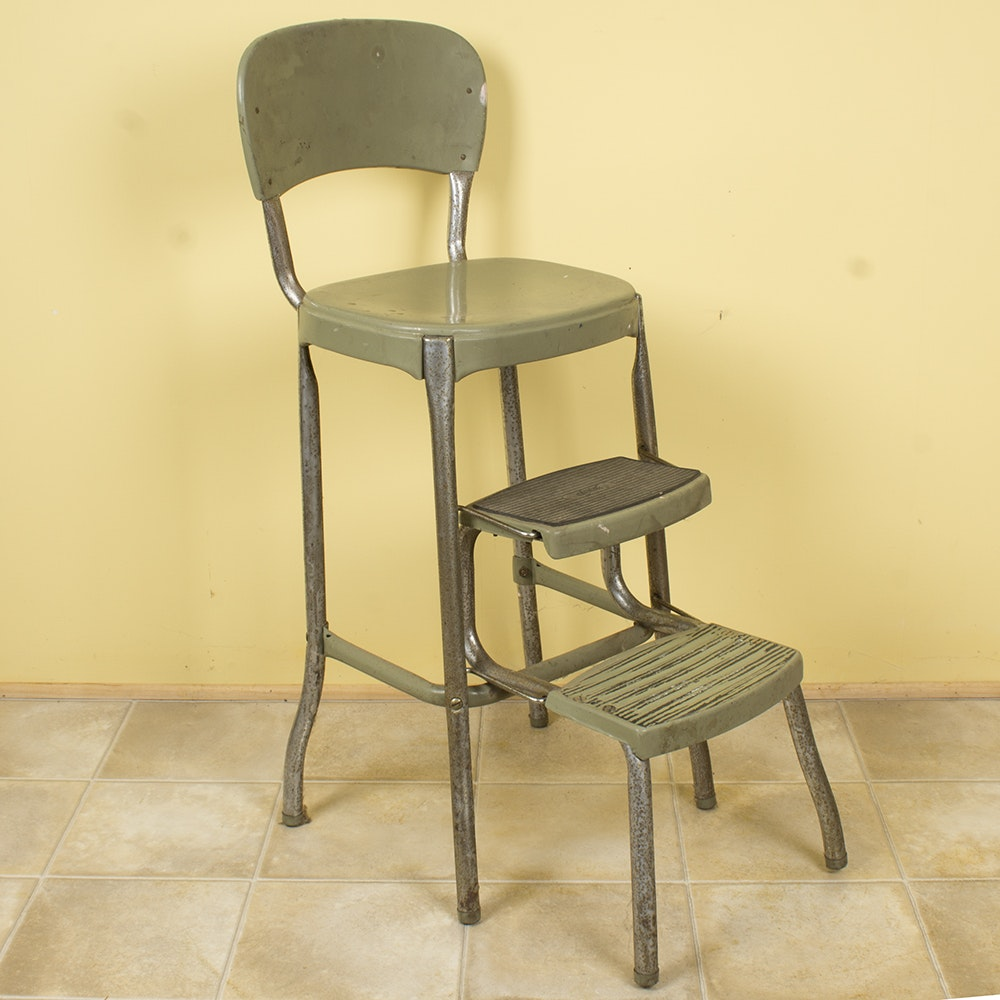 Retro Step Stool Chair by Stylaire & Vintage Cosco Step Stool Chairs : EBTH islam-shia.org