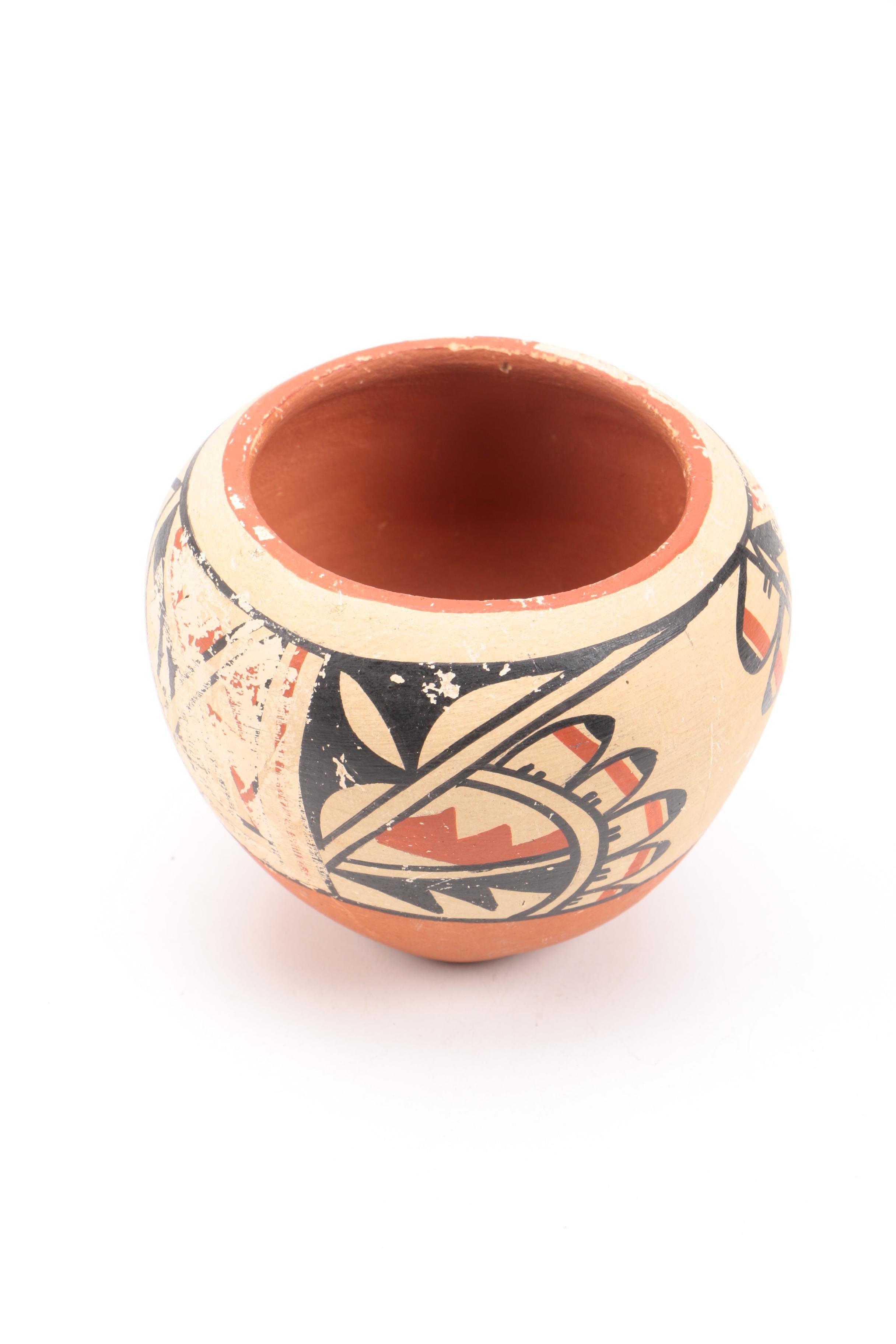 Signed Lucy Toya Jemez Pueblo Bowl