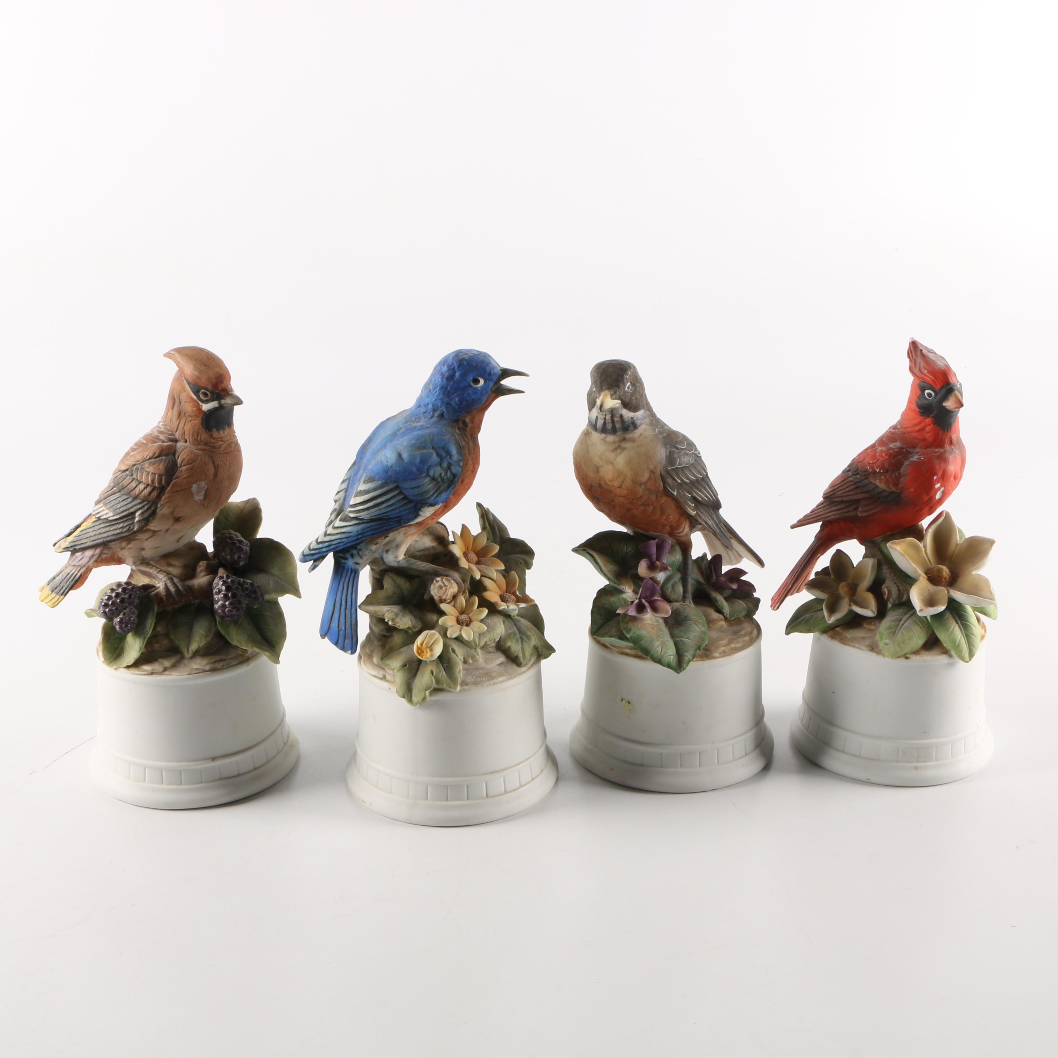 Lefton Hand Painted Porcelain Bird Figurines