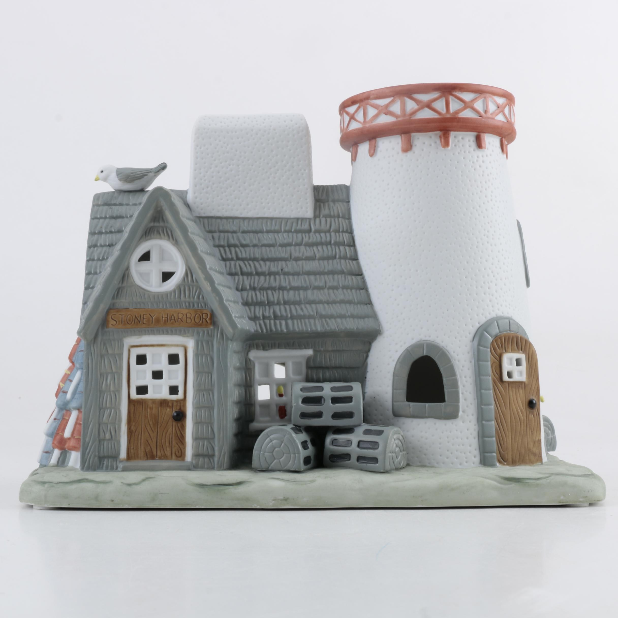 Ceramic Lighthouse Candle Holder by Party Lite