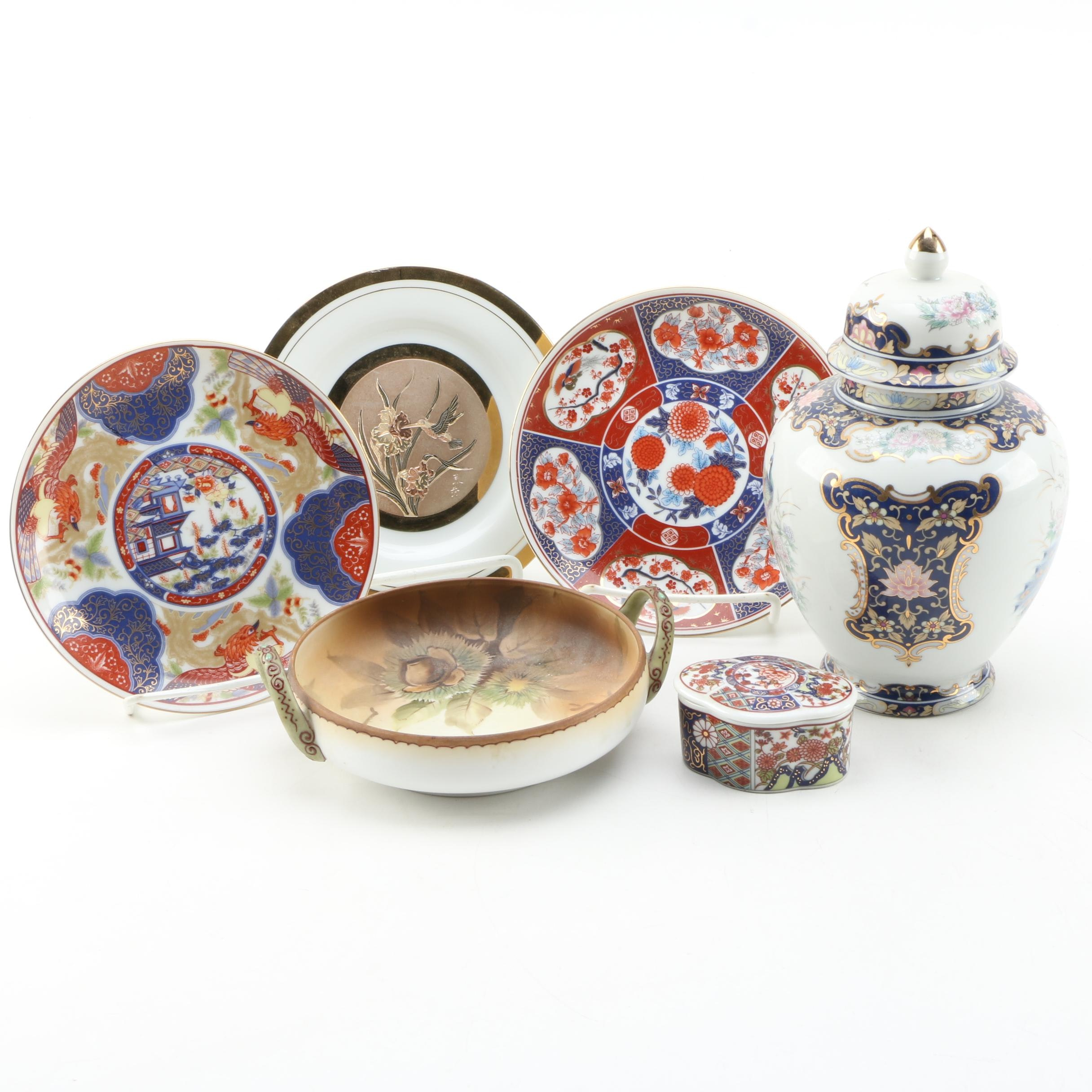 East Asian Tableware including Hand-Painted Noritake