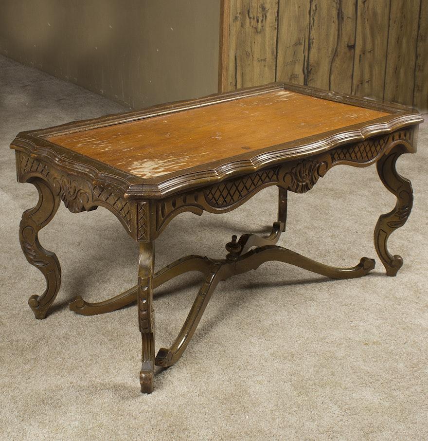 Vintage victorian style coffee table ebth vintage victorian style coffee table geotapseo Gallery