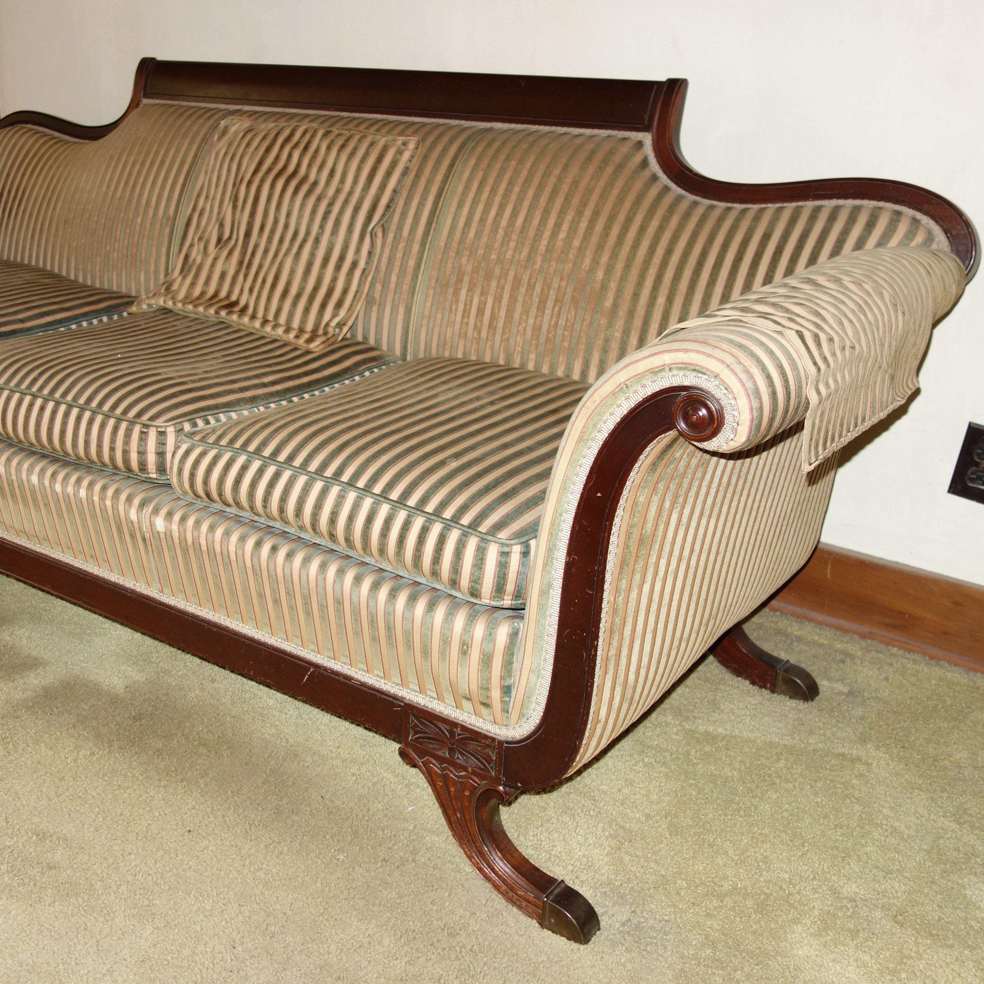Vintage Queen Anne Sofa