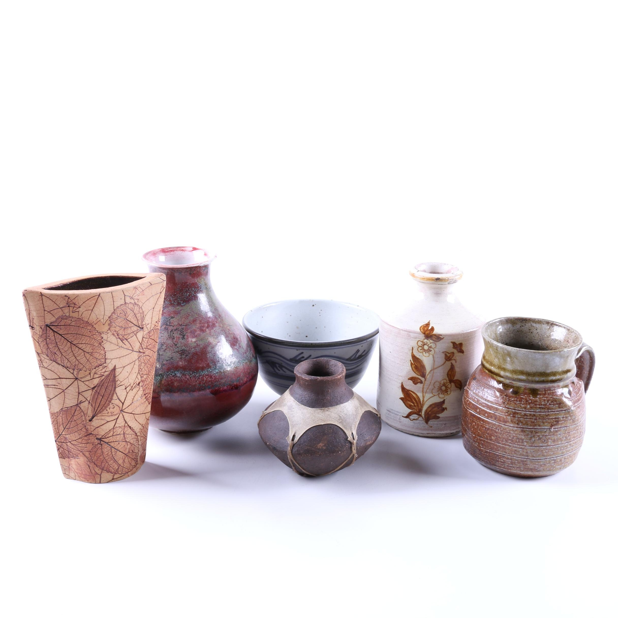 Collection of Hand Thrown Stoneware and Porcelain Pottery