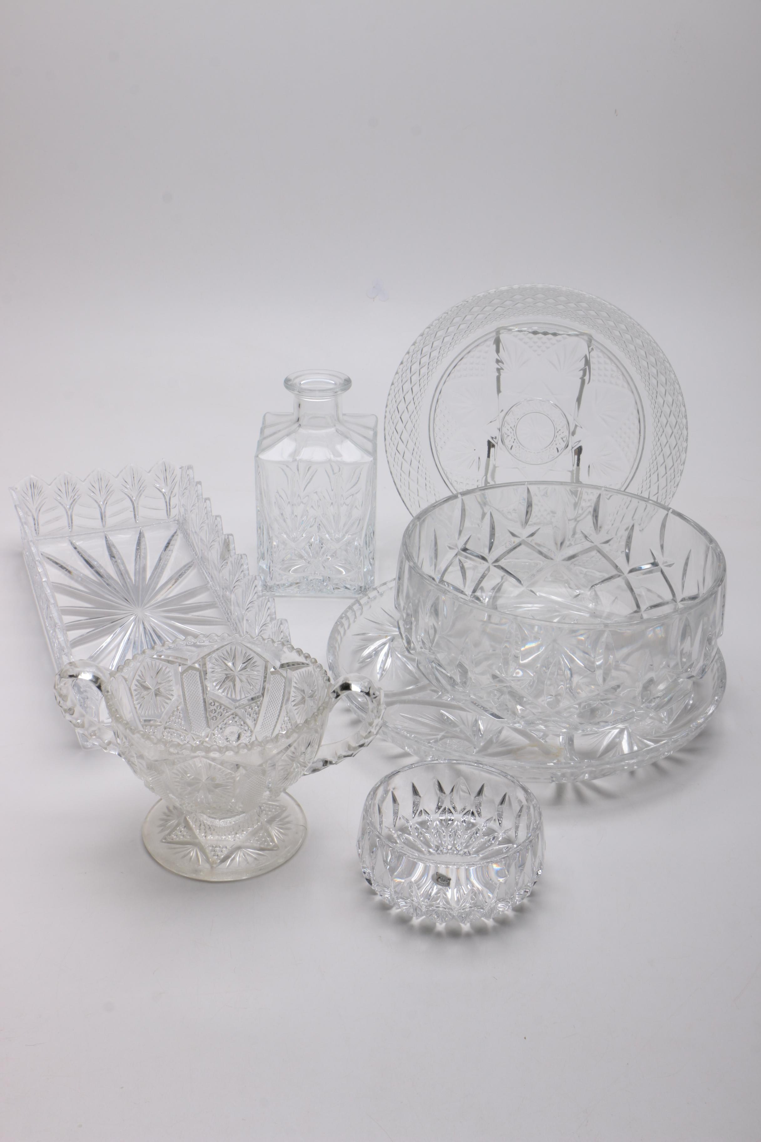 Crystal Tableware and Barware Including Gorham Crystal