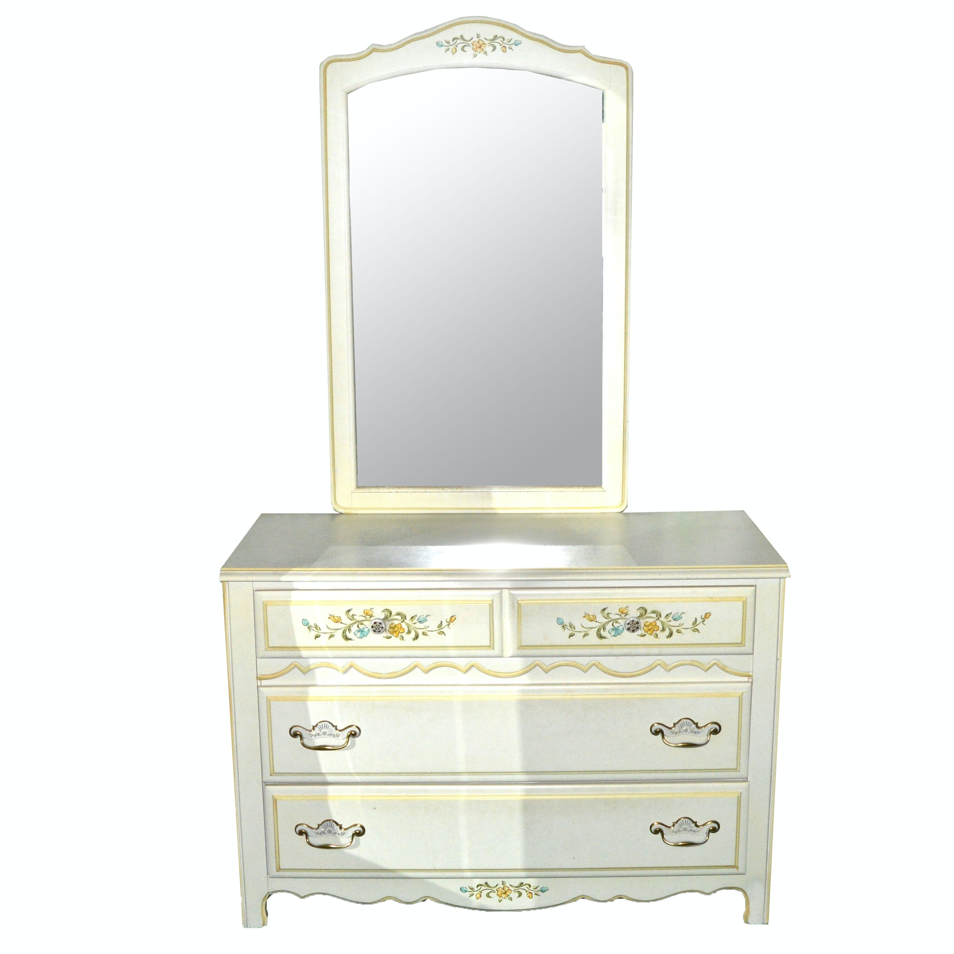 French Country Inspired Dresser with Mirror