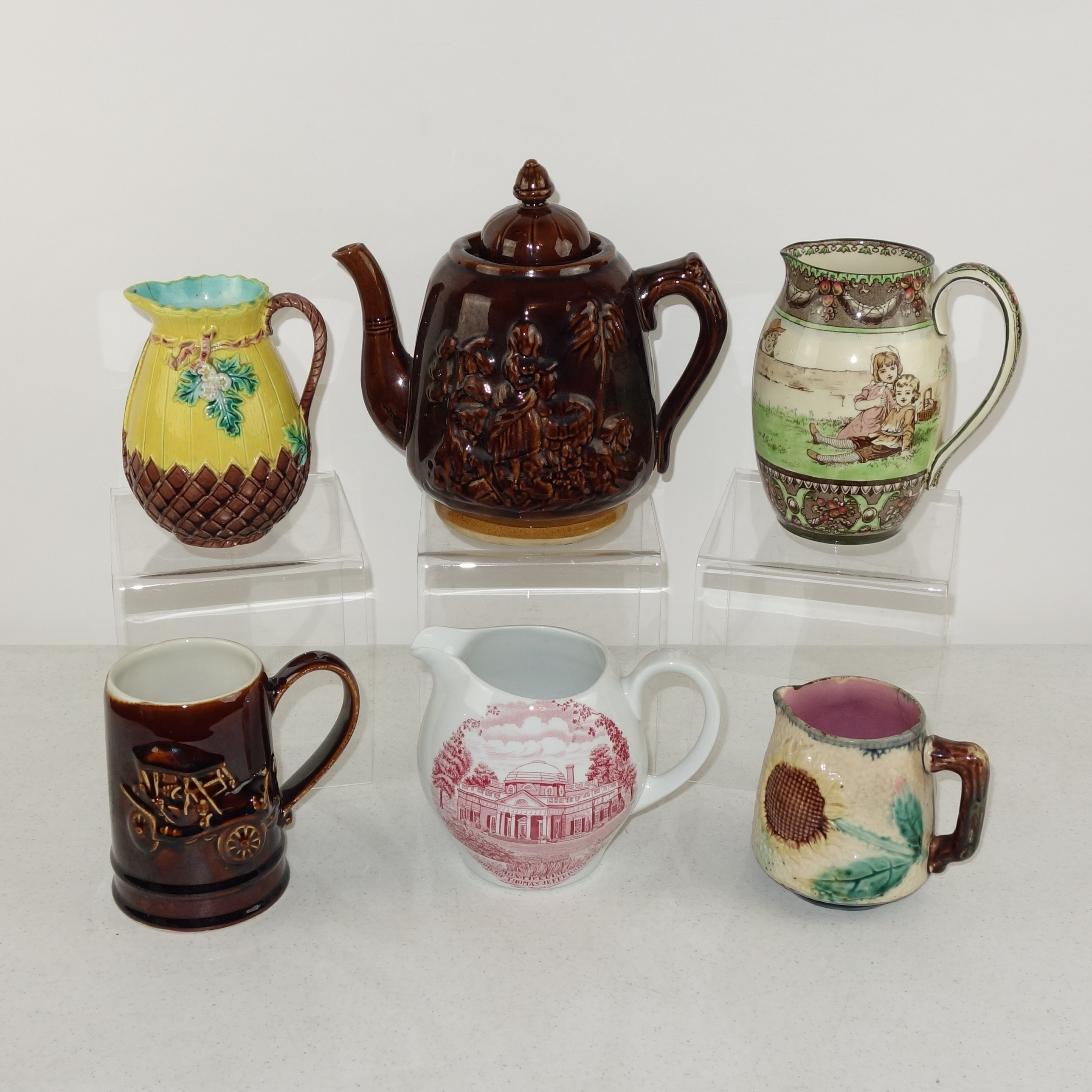 Tableware including Royal Doulton and Griffen, Smith & Hill Majolica