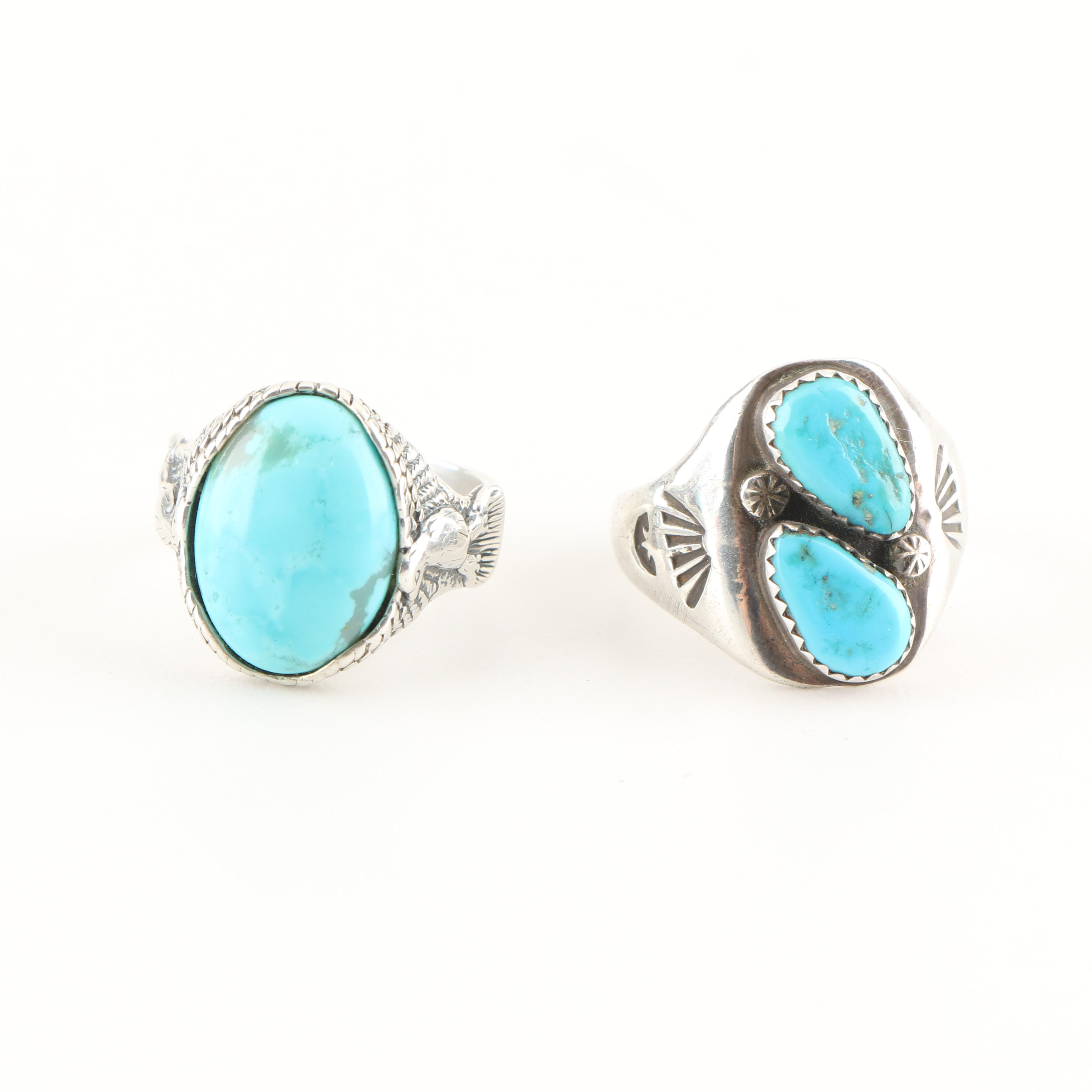 Sterling Silver Southwestern Style Rings Including Carolyn Pollack