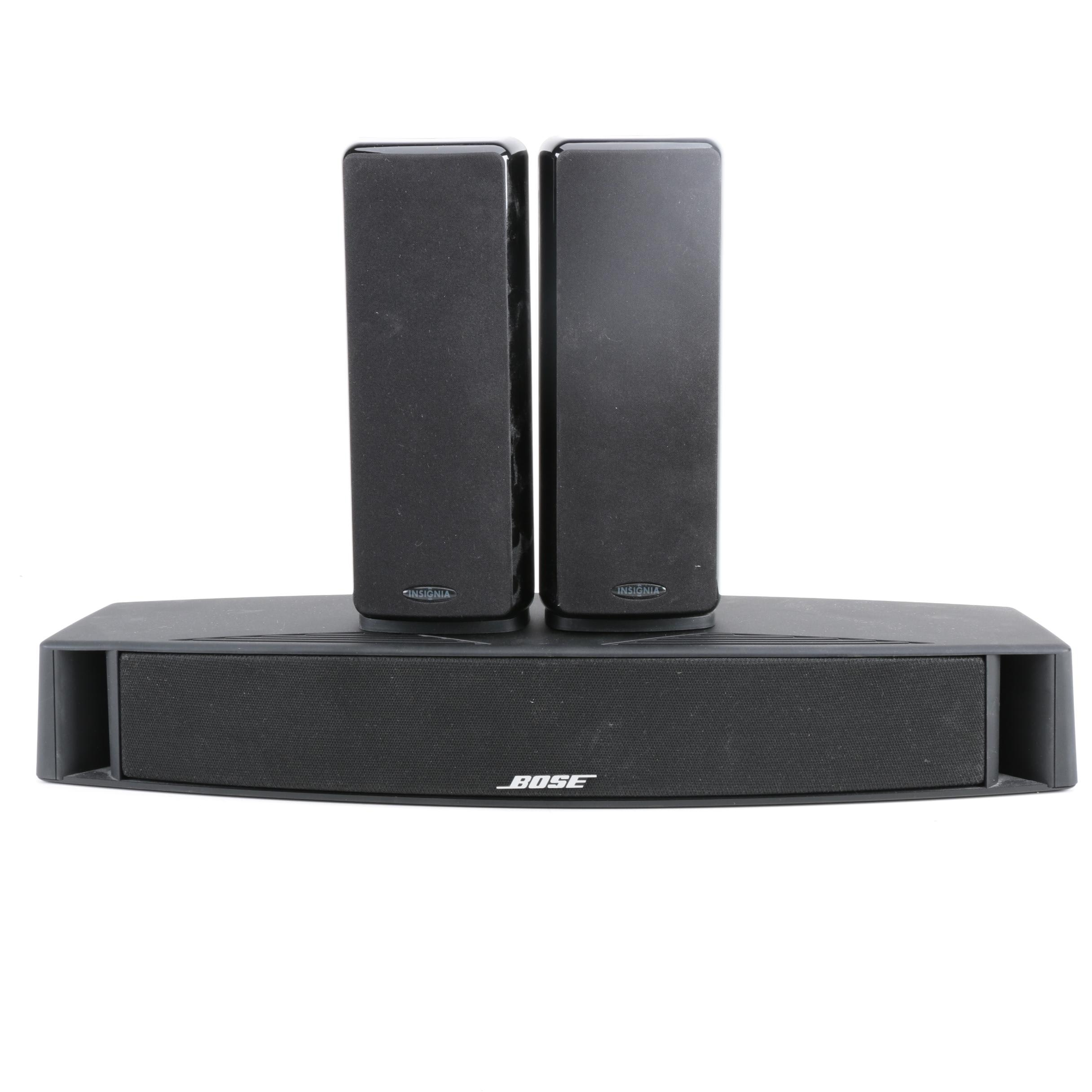 Bose Center Channel Speaker with Insignia Speakers