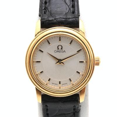 Omega 18K Yellow Gold Wristwatch