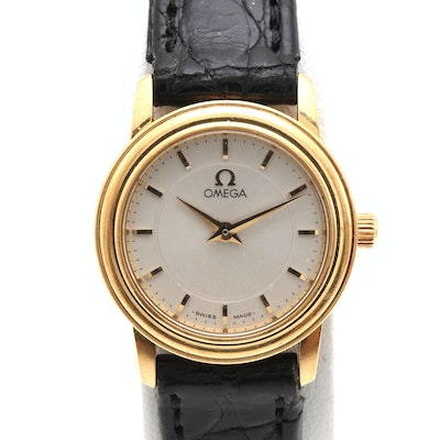 Omega 18K Yellow Gold Wristwatch
