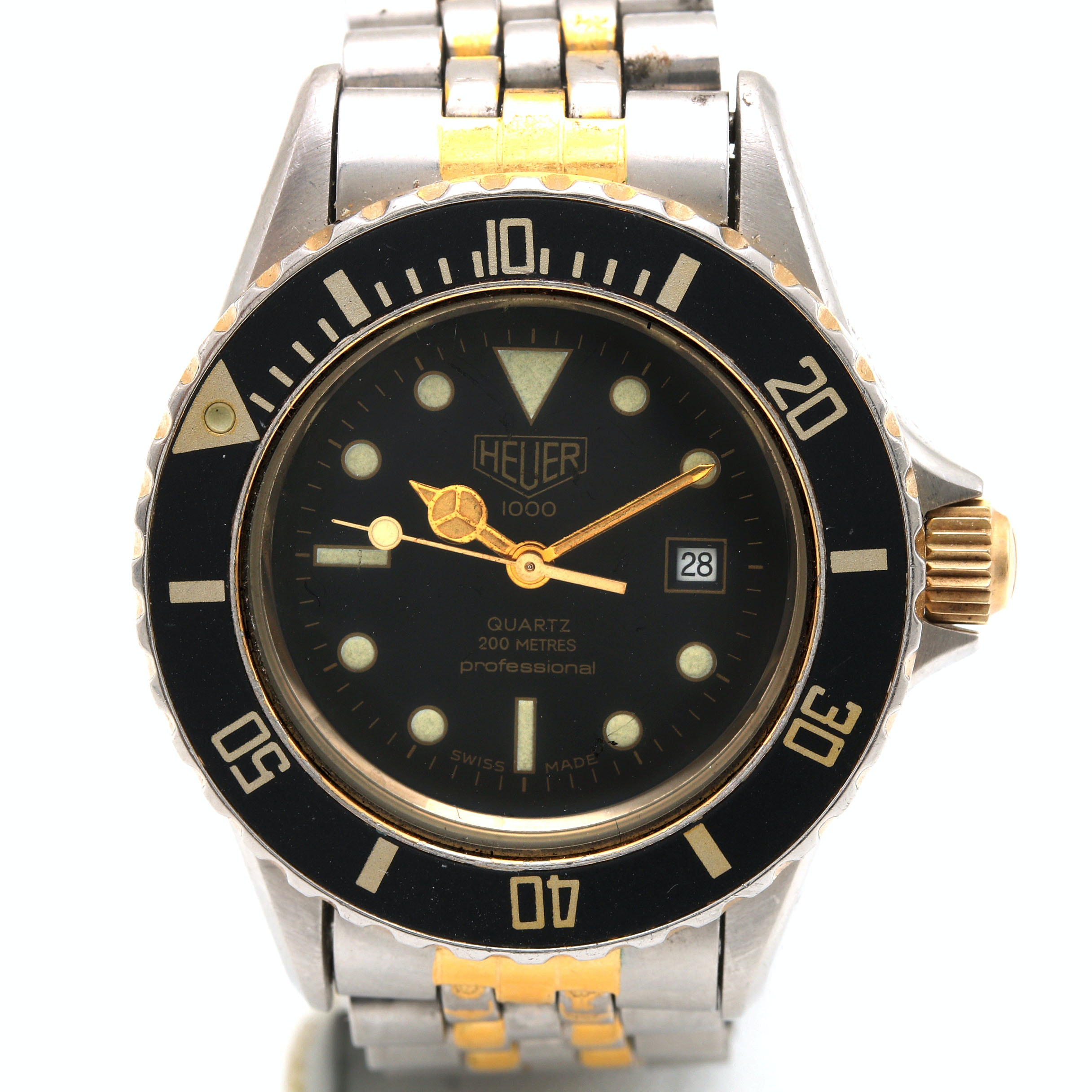 Heuer Stainless Steel Two-Tone Wristwatch